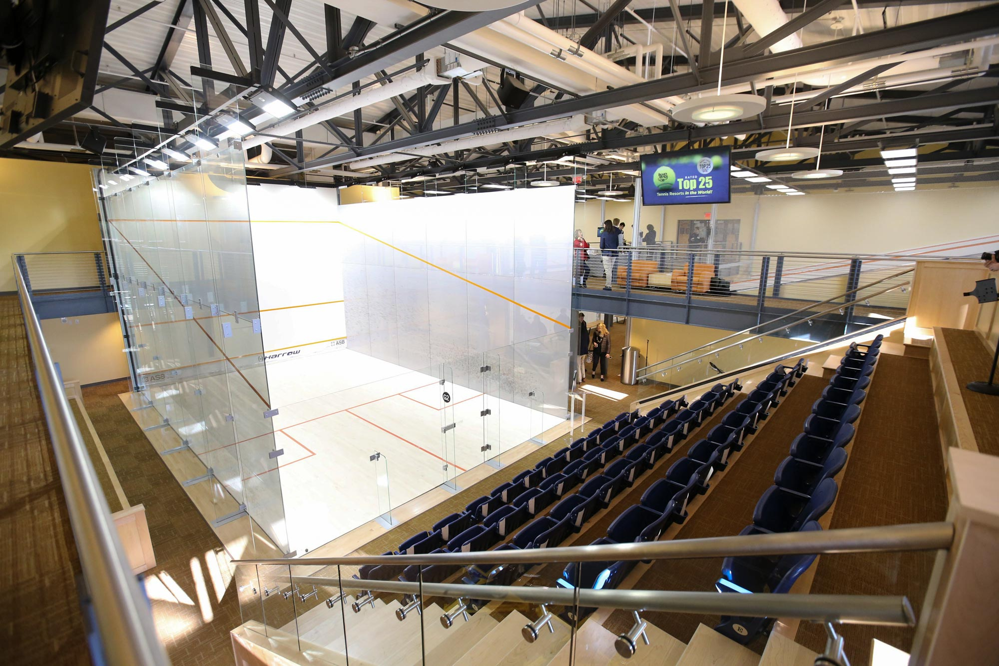 An exhibition squash match at the Boar's Head Sports Club has the Charlottesville squash community excited.