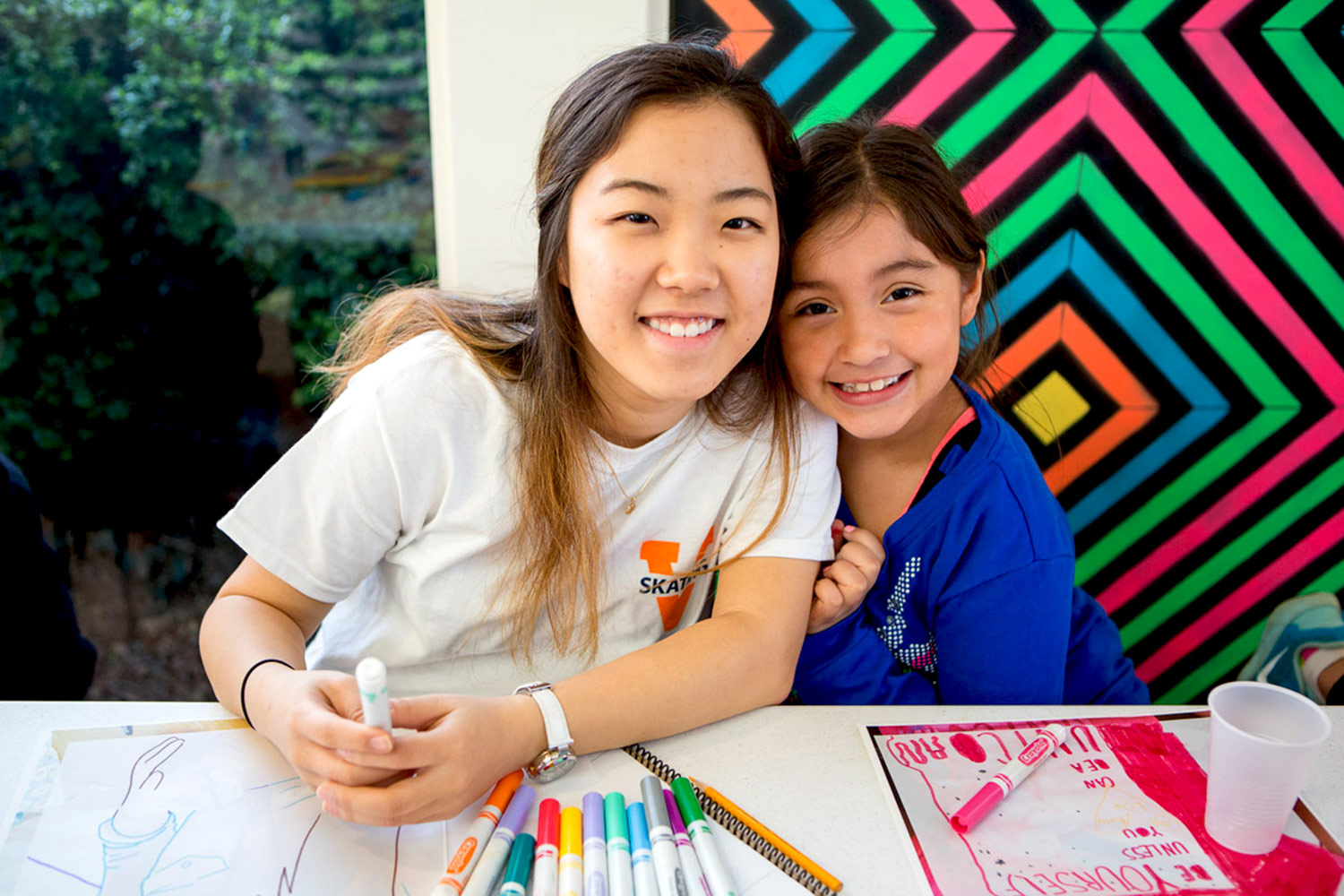 Second-year student Claire Song worked with her mentee each week throughout the 10-week program.