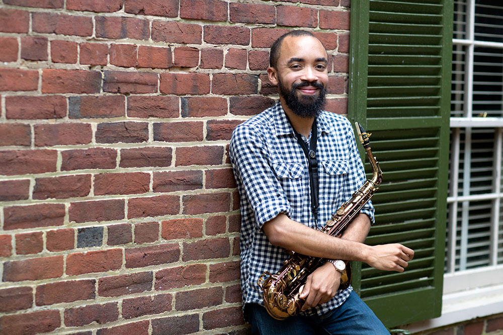 Steven Lewis, a doctoral student in the music department's Critical and Comparative Studies program, helped bring the history of African-American music to life in the Smithsonian Institute's newest museum. (Photo by Dan Addison, University Communications)