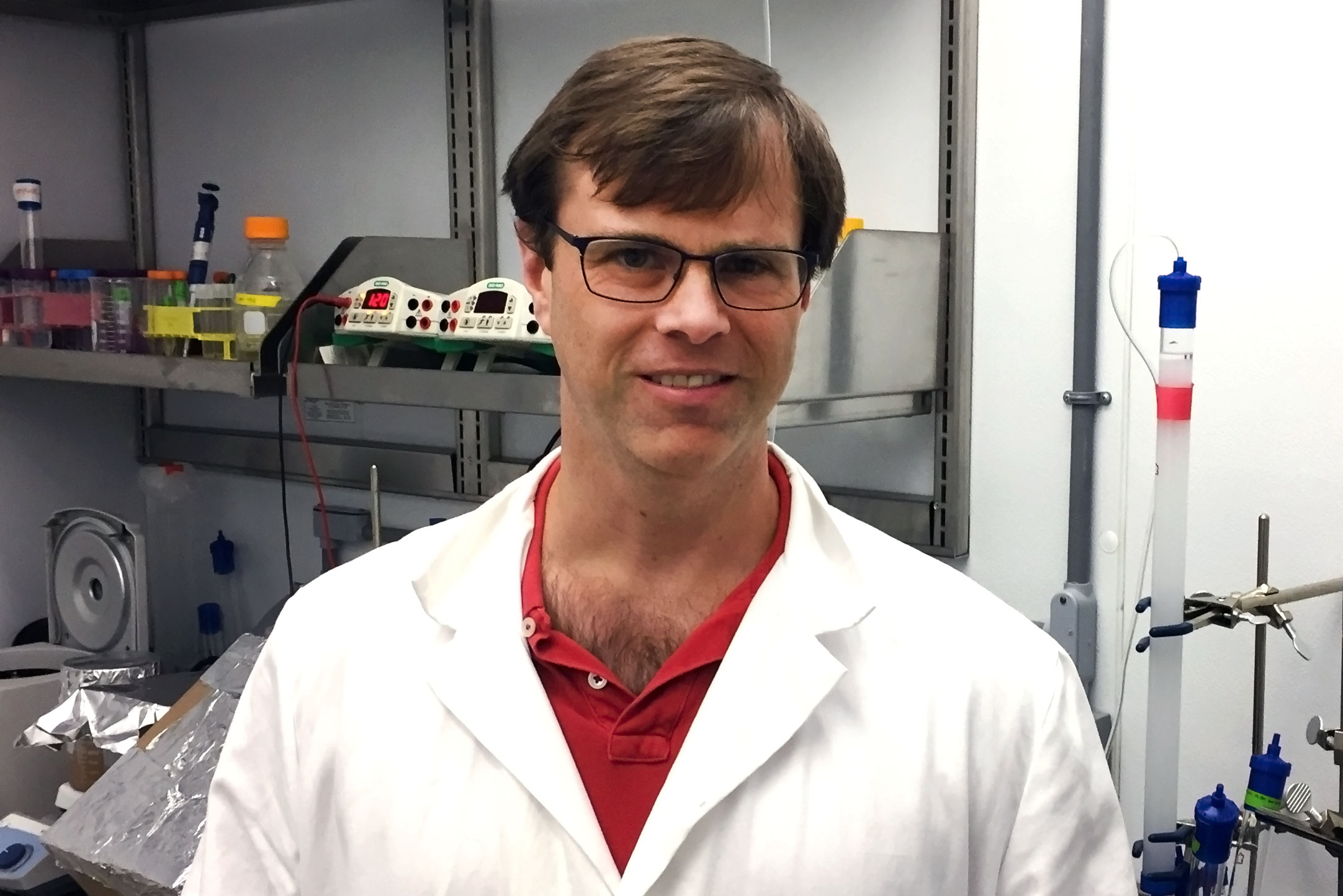 Christopher Stroupe is targeting HOPS molecules as he seeks treatments for Ebola and cancer.