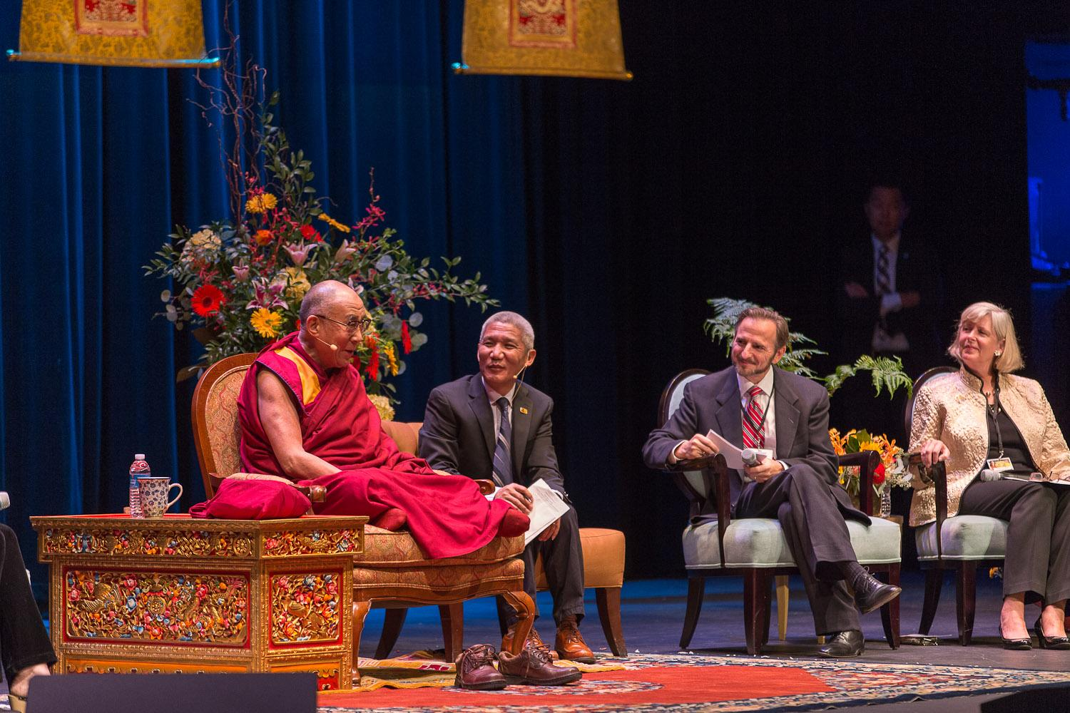 Dalai Lama Exchanges Ideas, Laughter With Health System Clinicians