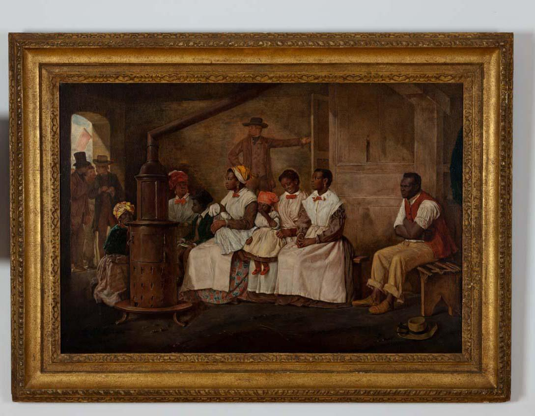 U professors new book considers american slave trade through image of the painting slaves waiting for sale richmond virginia by eyre crowe jeuxipadfo Gallery