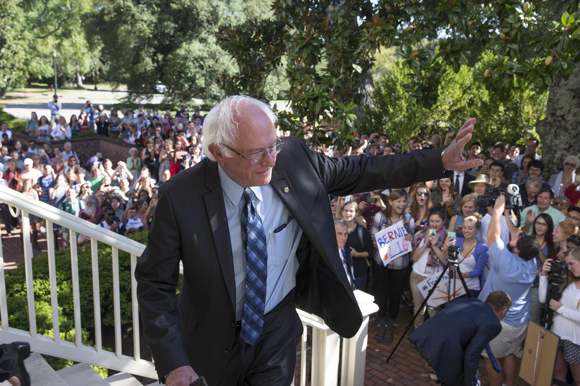 UVA's Miller Center Draws Sanders, and Sanders Draws a Crowd