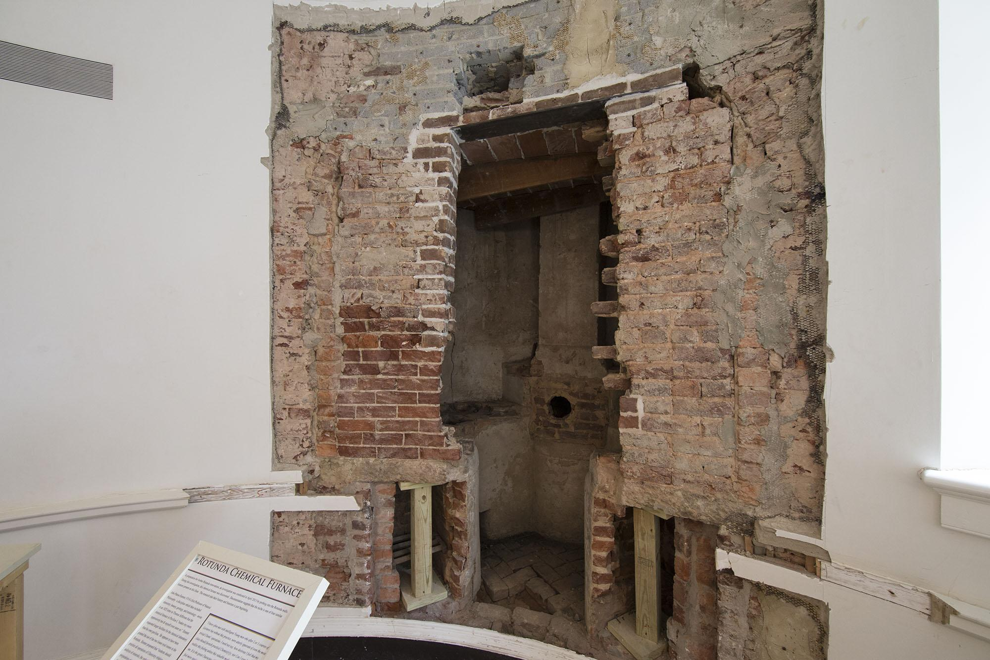 Jeffersonian Era Chemistry Hearth Preserved In Rotunda Wall Uva Today