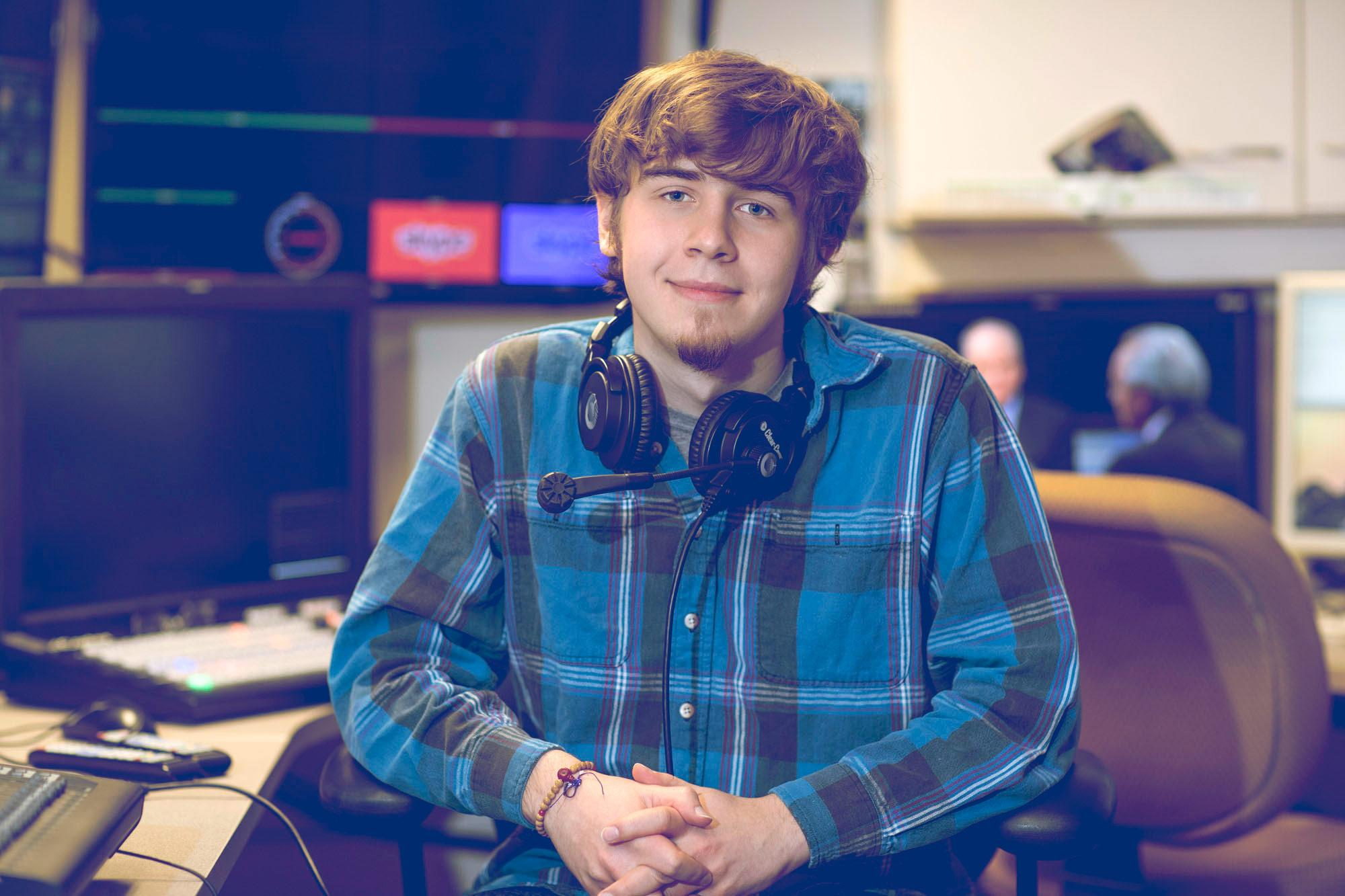 """Alex Griffith is a fourth-year history major and audio-visual assistant on the Miller Center's """"American Forum."""""""