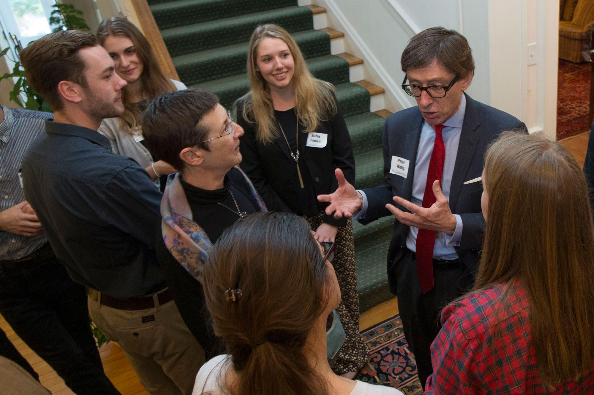 German Ambassador to the U.S. Peter Wittig with students