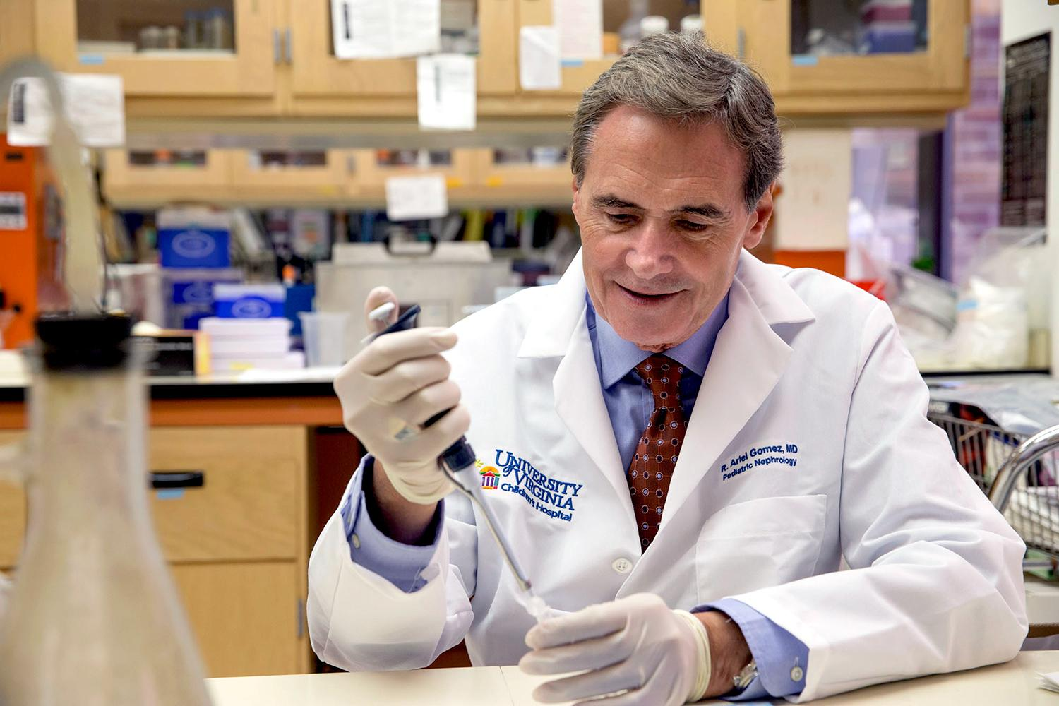 Dr. Ariel Gomez's research focuses on the identity and fate of renin cells, which are responsible for producing renin, an enzyme-hormone that regulates blood pressure and the composition of our body fluids and electrolytes.