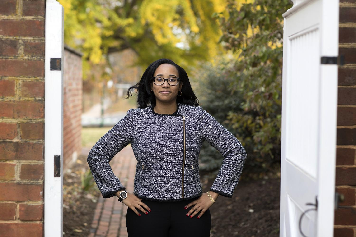 Fourth-year student Aryn Frazier will head to law school after completing two years of study as a Rhodes Scholar at the University of Oxford.