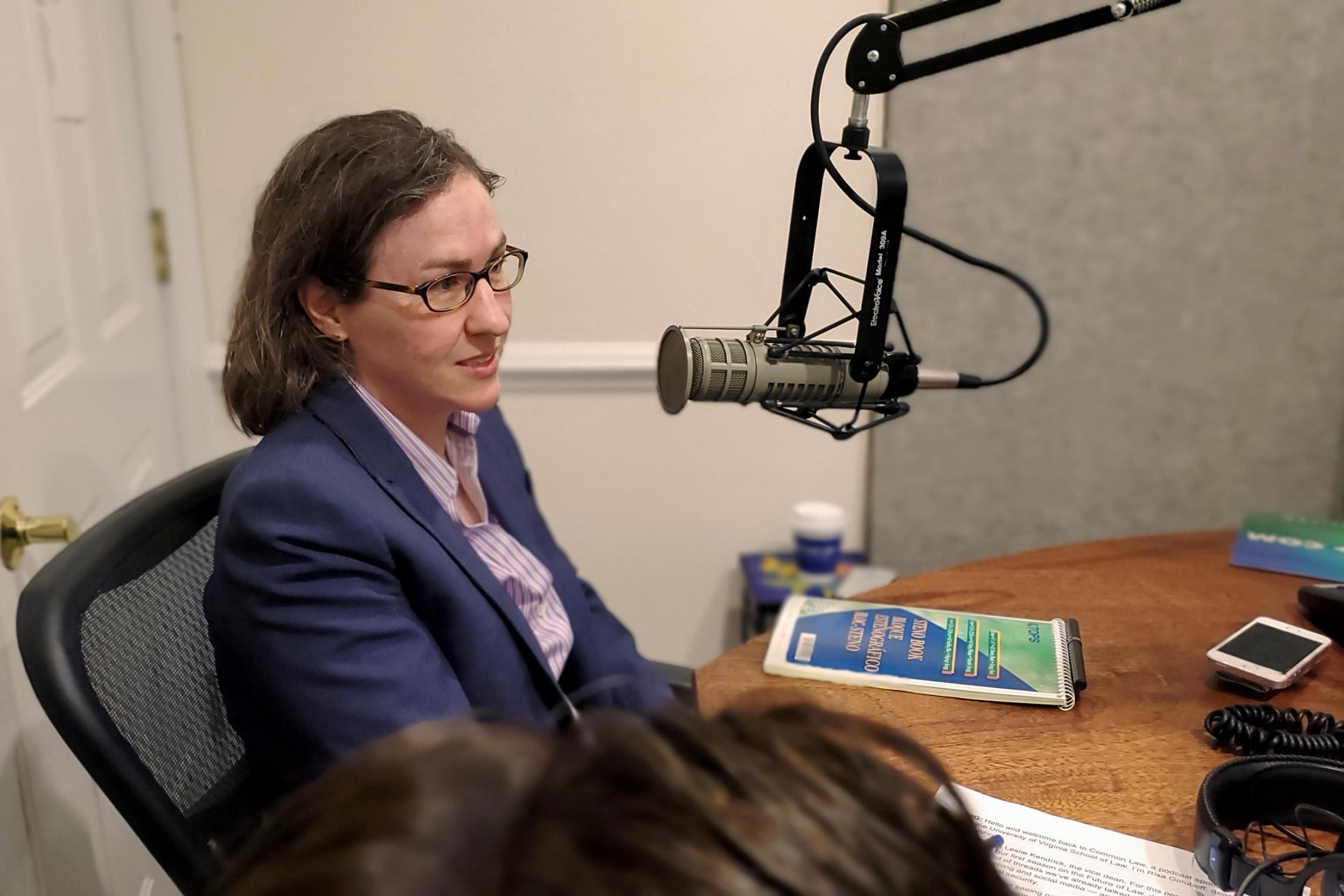 """UVA Law's Ashley Deeks is featured on the eighth episode of the school's """"Common Law"""" podcast."""