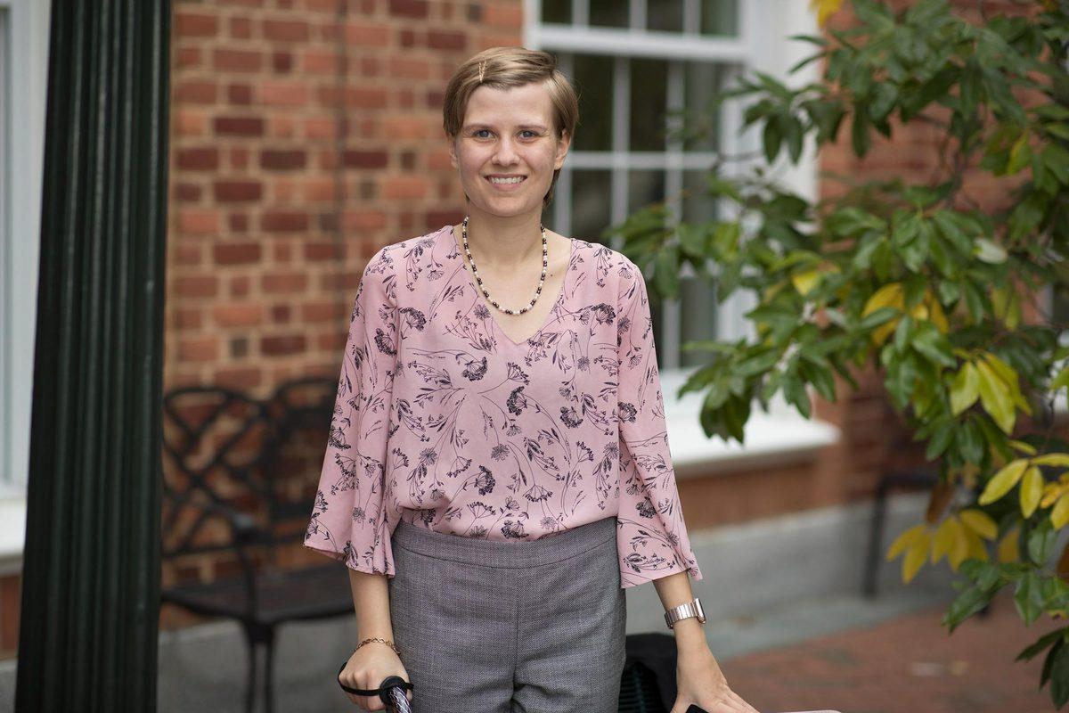Ashley Heuser is the student administrator for the Disability Studies Initiative and the president of Chronically Ill and Disabled Cavaliers.