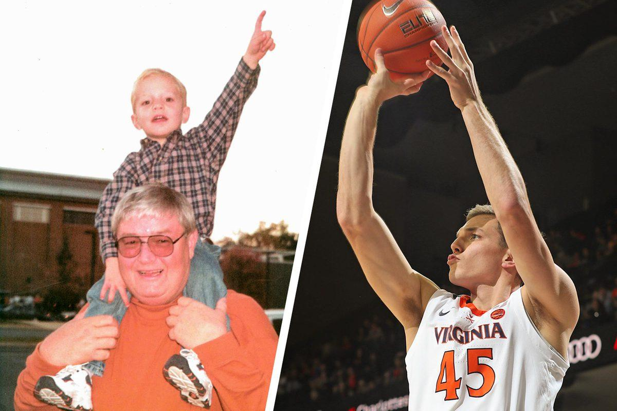 Austin Katstra remembers riding on the shoulders of his grandfather, a former UVA basketball player. Now he's a Cavalier himself.