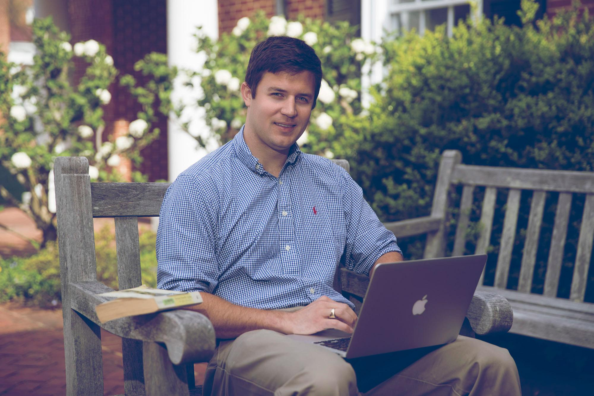 "Bingley ""Barker"" Squire, who will graduate in May, came to UVA's Darden School of Business after four years in the Marine Corps."