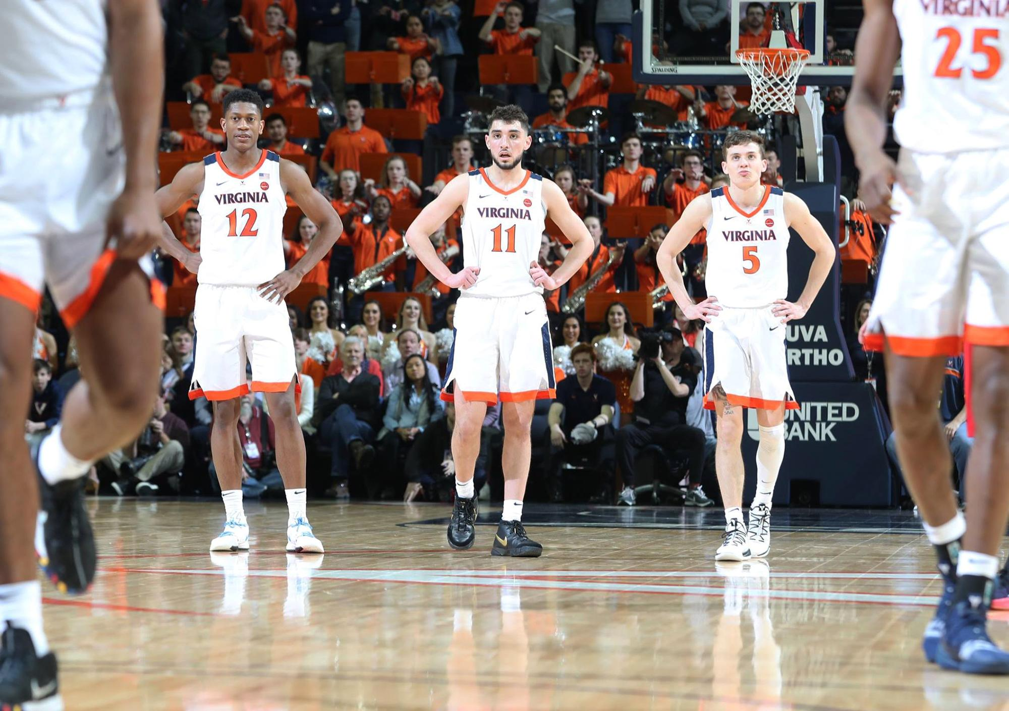 Tony Bennett's squad earned a top seed in this year's NCAA Tournament after winning a share of the ACC regular season title. (Photo by Matt Riley, UVA Athletics)