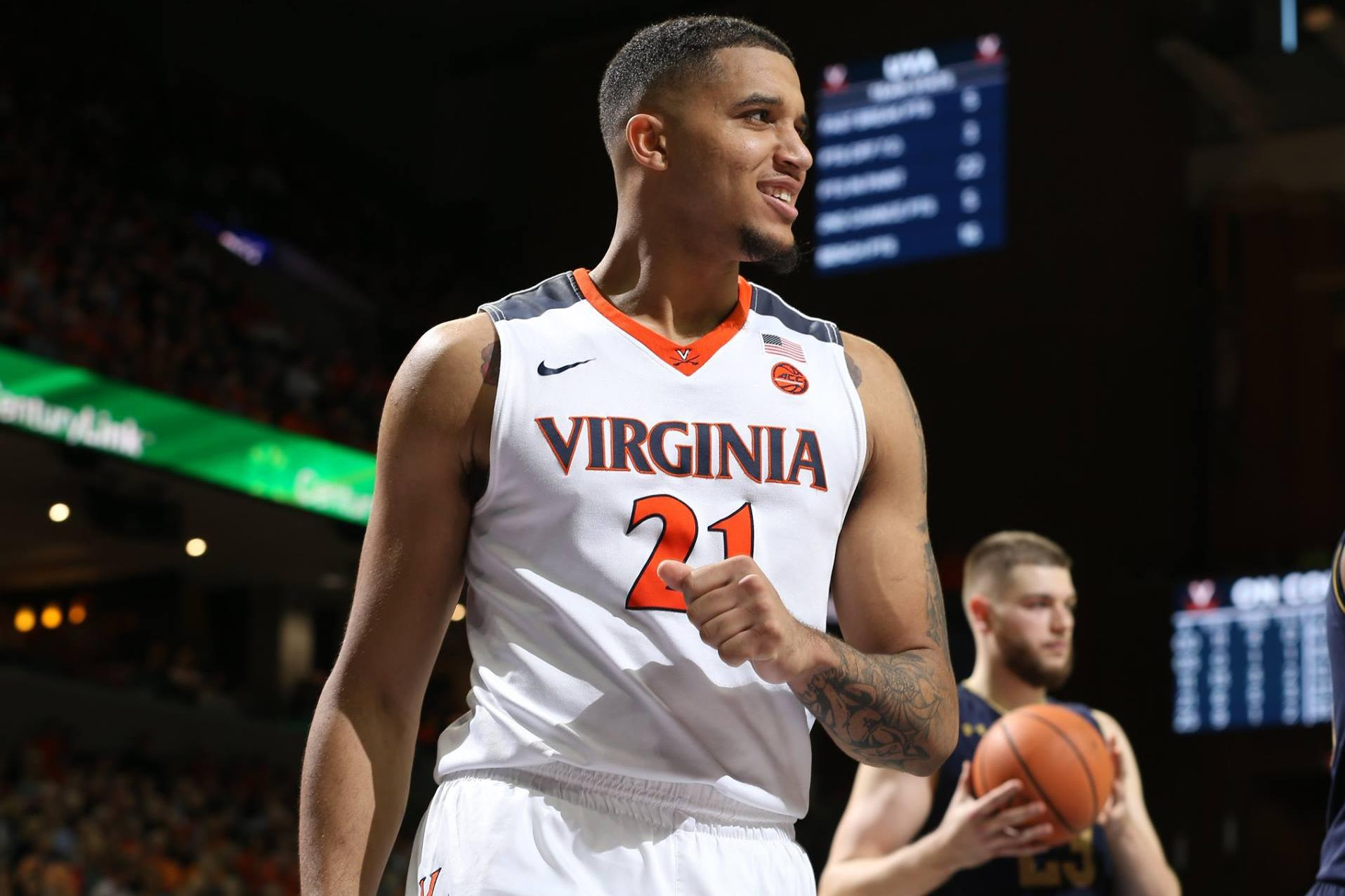 Fourth-year Isaiah Wilkins was among the Cavaliers to be honored Sunday, voted the ACC Defensive Player of the Year.