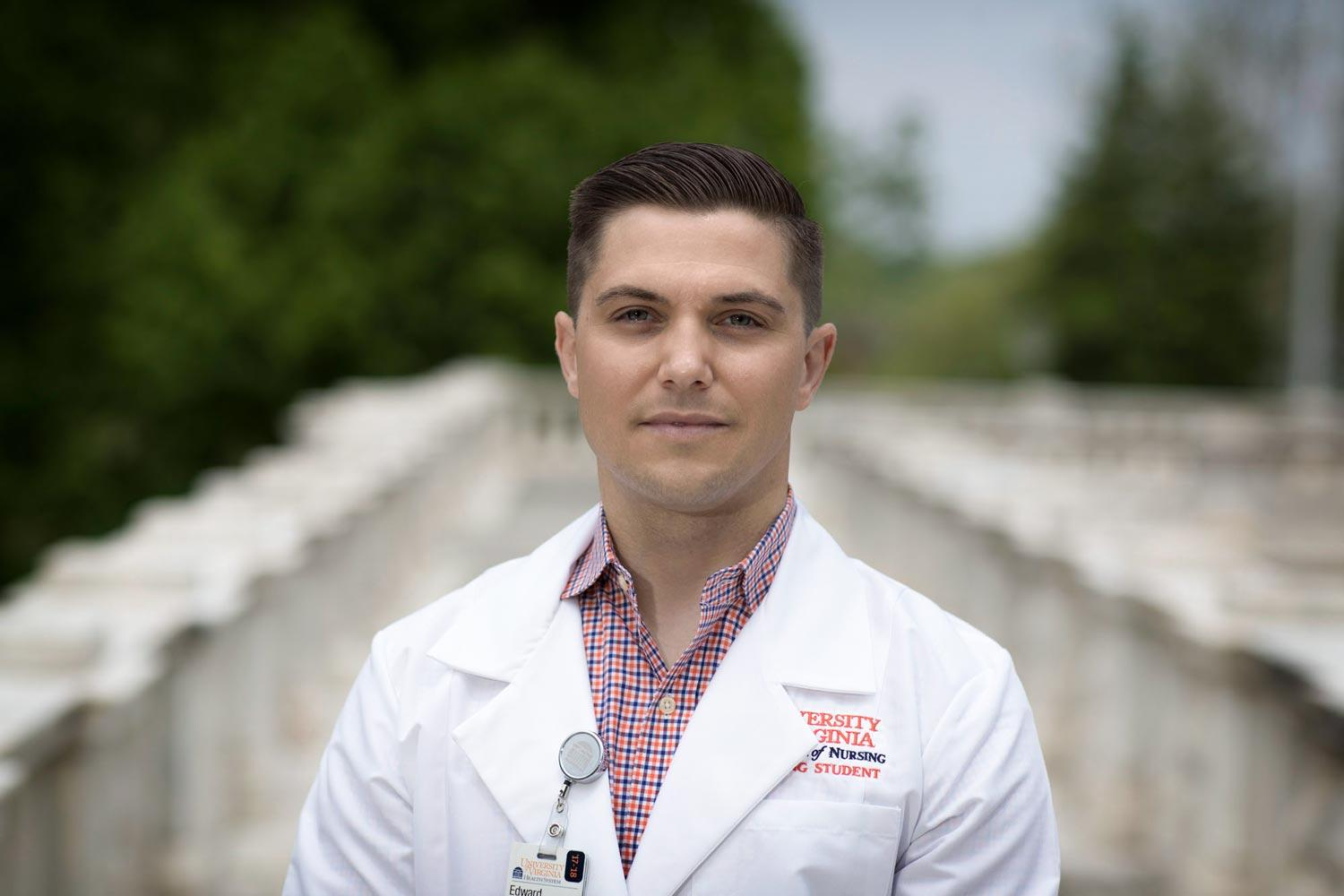 A former EMS volunteer, Blake Duffer often wondered what happened to patients after he dropped them off at the hospital. That question eventually led to a career in nursing.