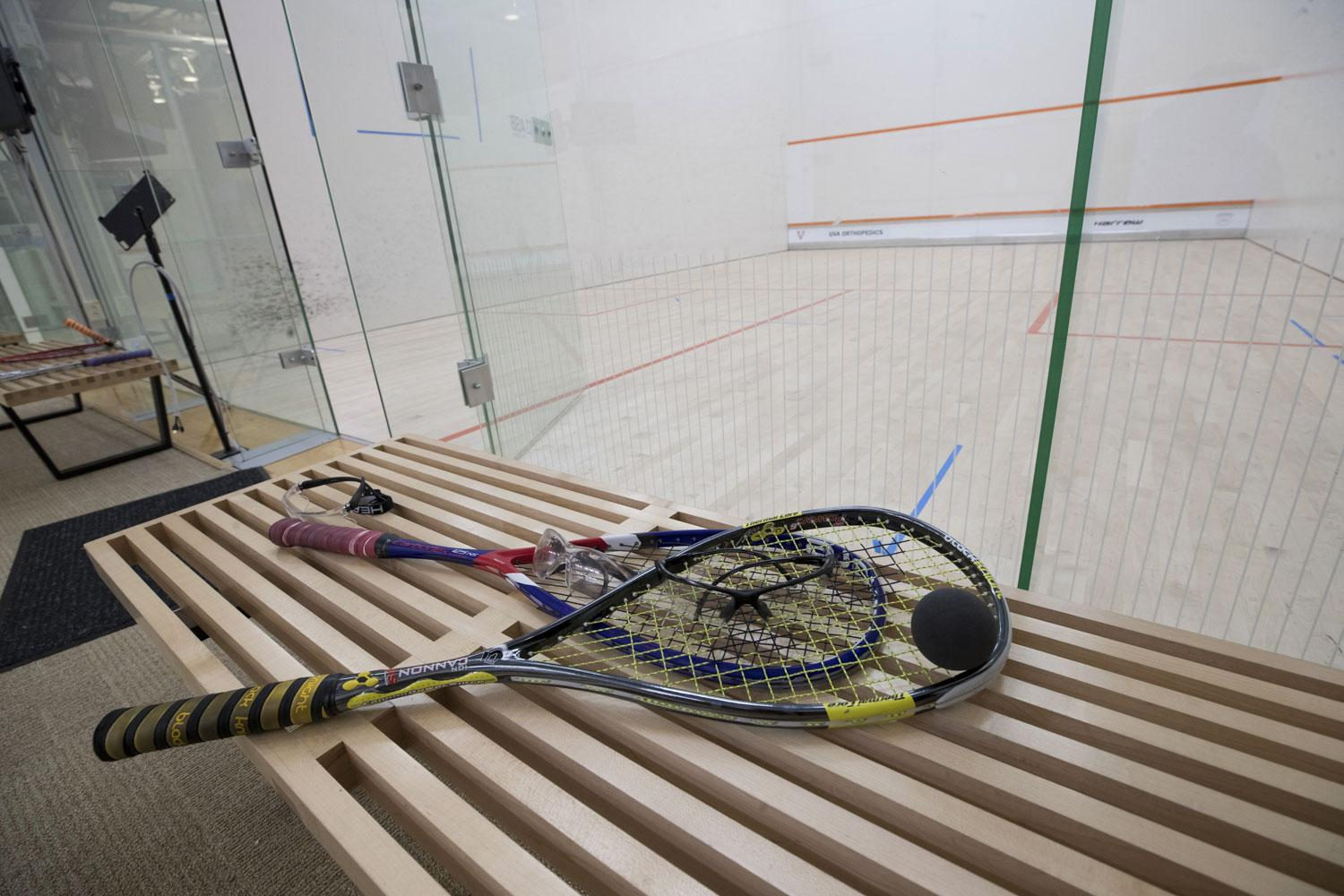 After a just-completed expansion, the McArthur Squash Center, which opened in 2013, now has 14 singles courts and two doubles courts.