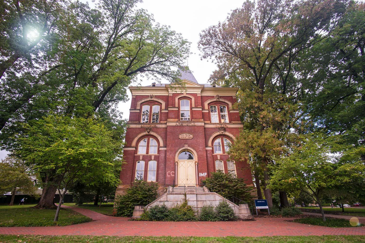 Brooks Hall, one of the first non-Jeffersonian buildings at UVA, has had a long and checkered history.