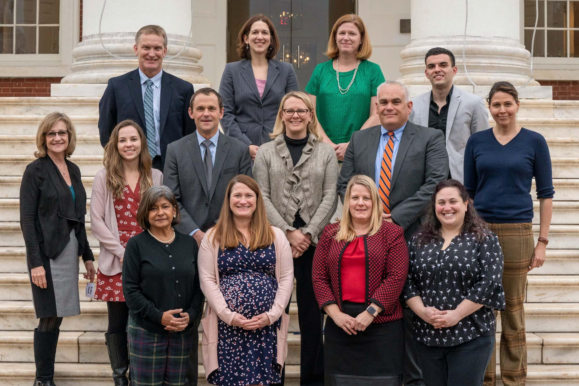 The 2019 Hoos Building Bridges Award winners with UVA President Jim Ryan before Monday's reception.