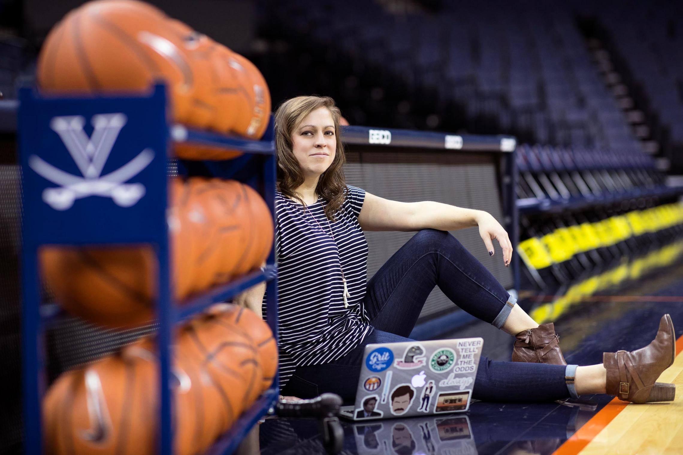 UVA athletics has always held a special place in Caroline Darney's heart. (Photo by Dan Addison, University Communications)