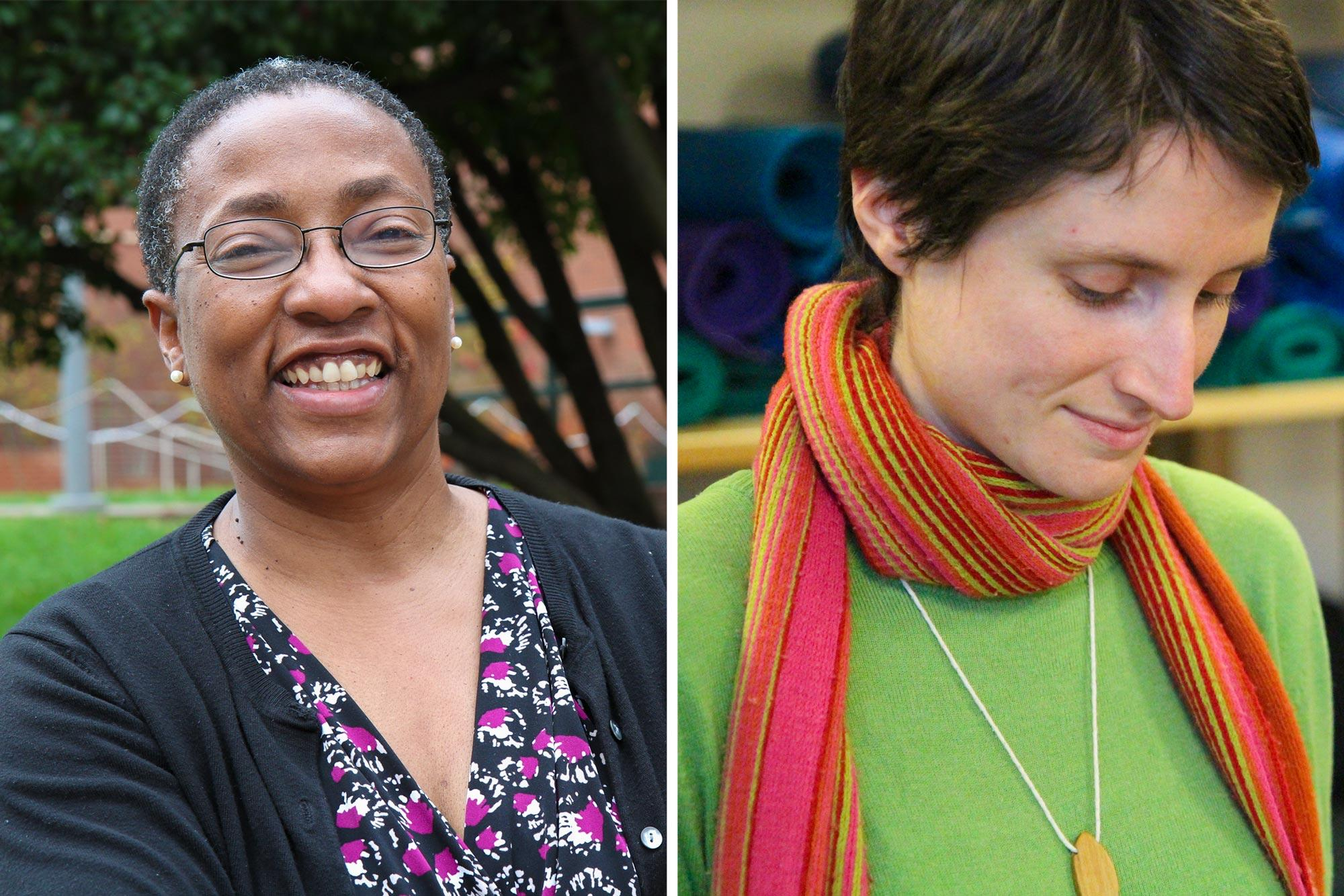 UVA nursing professor Cathy Campbell (left) and Ph.D. student Lauren Catlett recently published a case study that offers a personal glimpse into the life of a transgender woman with cancer.