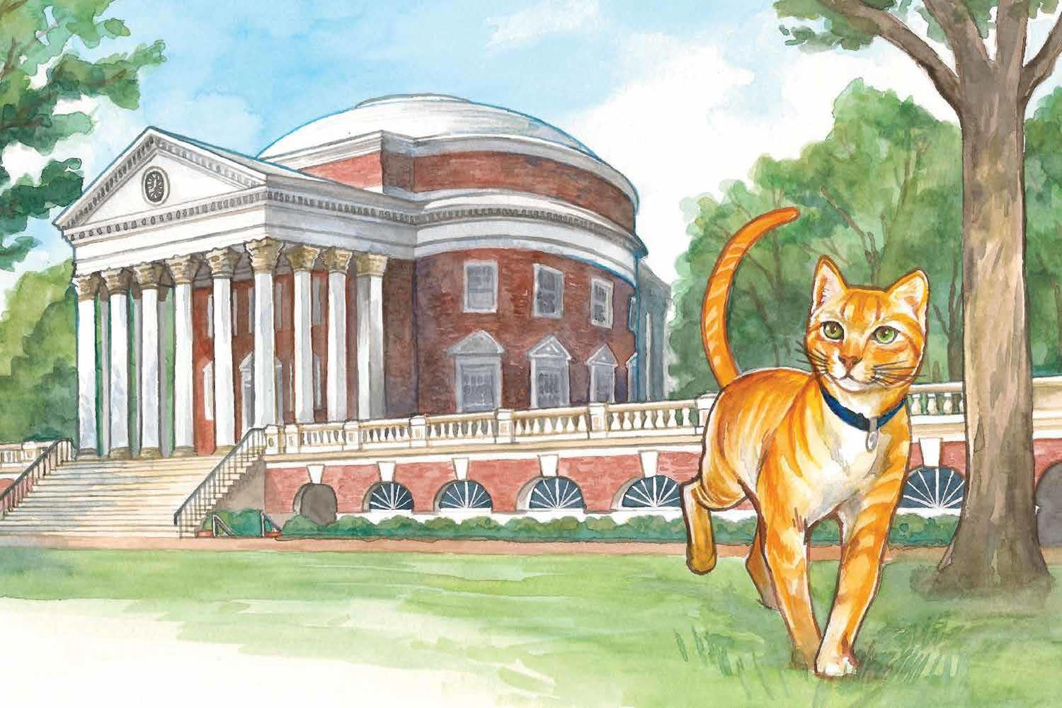 """""""A Cavalier Cat"""" stars a cute kitty named Pretzel and the UVA family that loved him."""