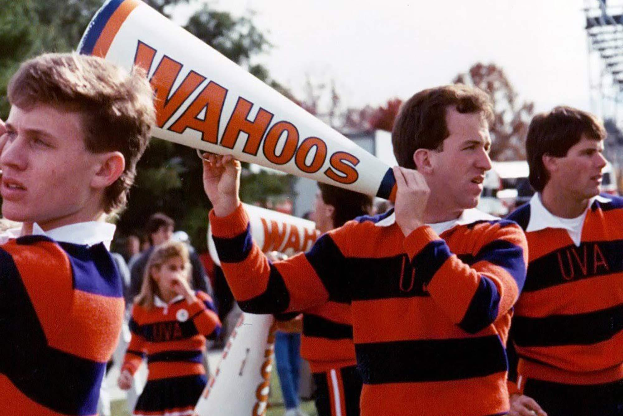 1990 McIntire School of Commerce graduate Craig Wood cheered UVA teams to victory all of his four years in school.