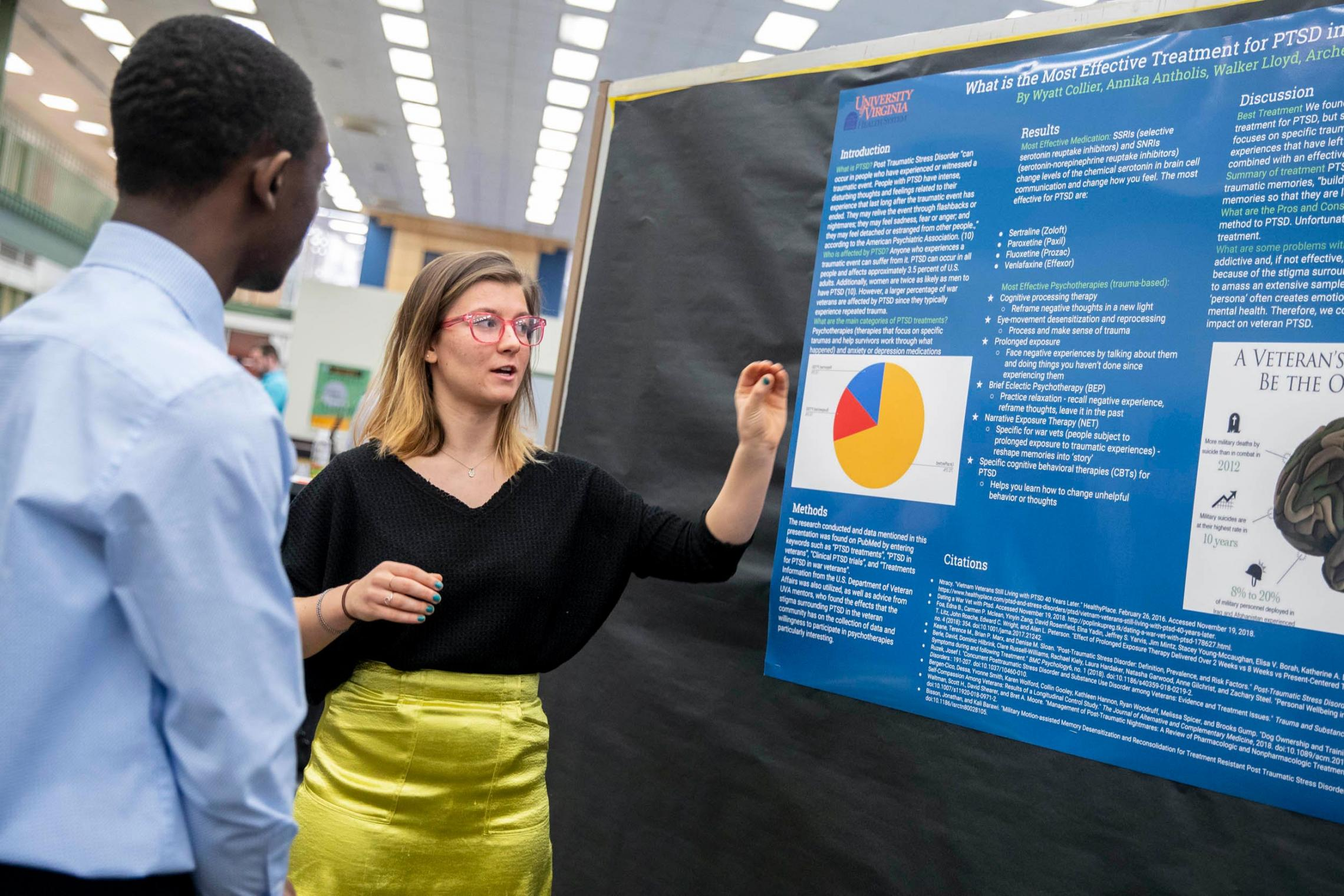 As part of a partnership to engage future leaders in medicine and science, Charlottesville High students visited UVA's Claude Moore Health Sciences Library and were mentored by doctors, librarians and scientists.