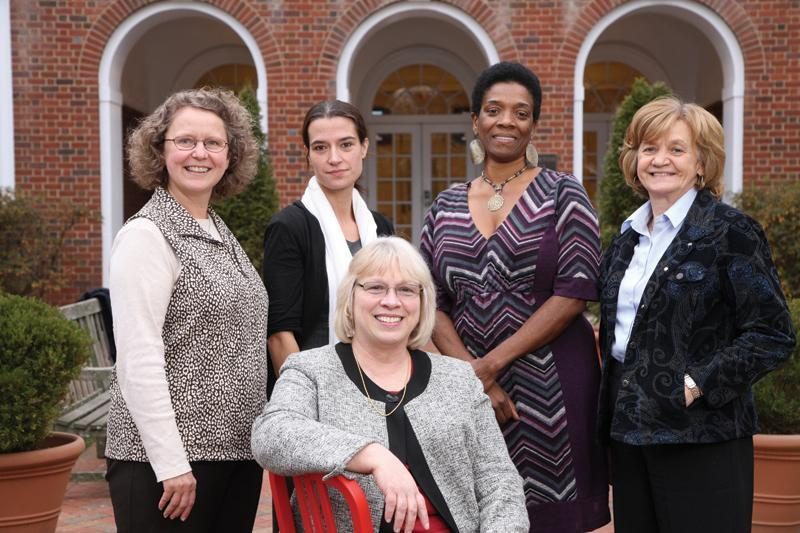 Joanne Cohoon, seated, with fellow leaders of UVA CHARGE, a program to increase the representation of women faculty in STEM fields