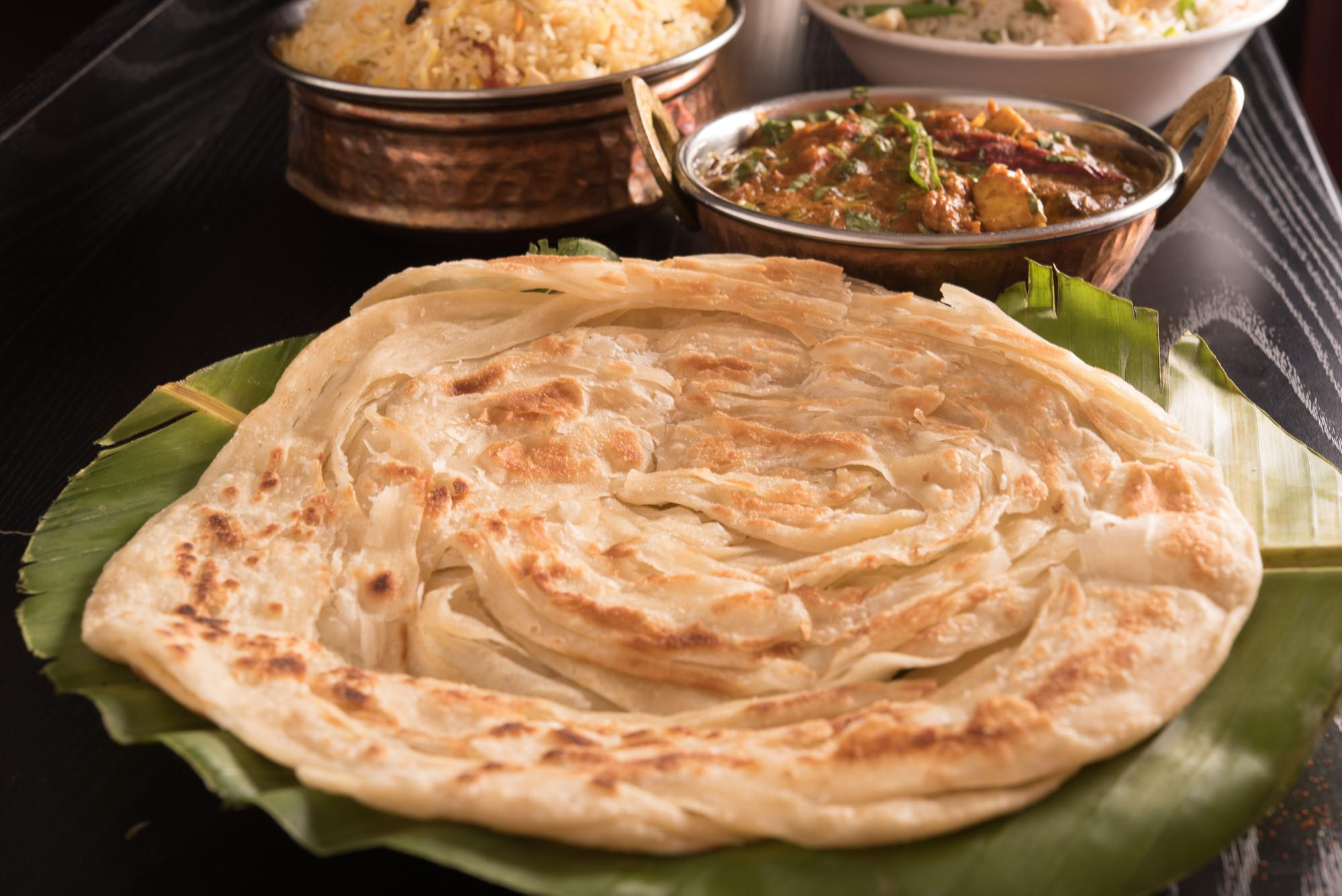As part of the meal, Nguyen made a popular South Asian-style fried bread called paratha.