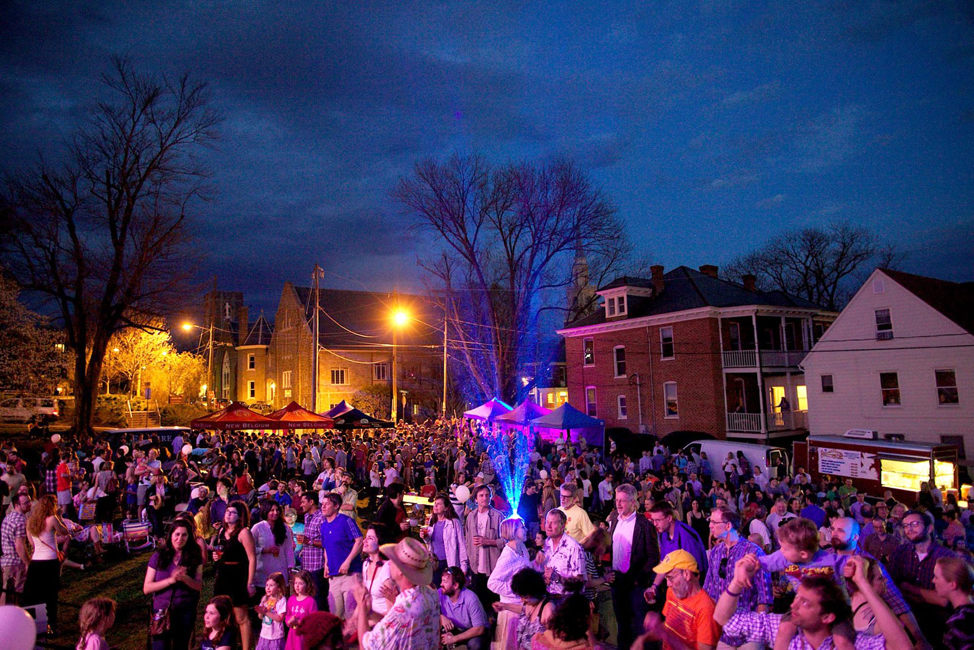 Downtown Charlottesville becomes a hub of activity throughout the week of Tom Tom.