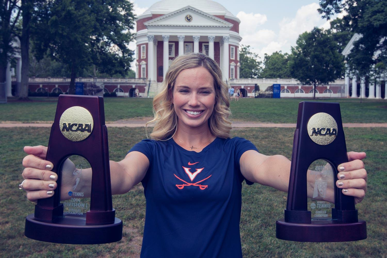 UVA alumna Danielle Collins won NCAA singles championships in 2014 and 2016.