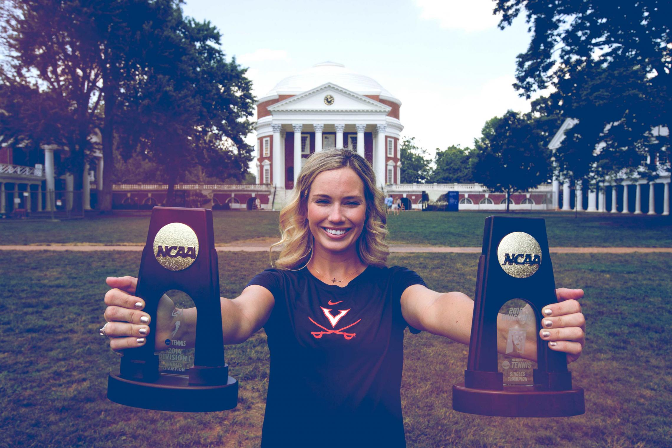 Danielle Collins won 125 of 153 singles matches during her college career and two national championships.