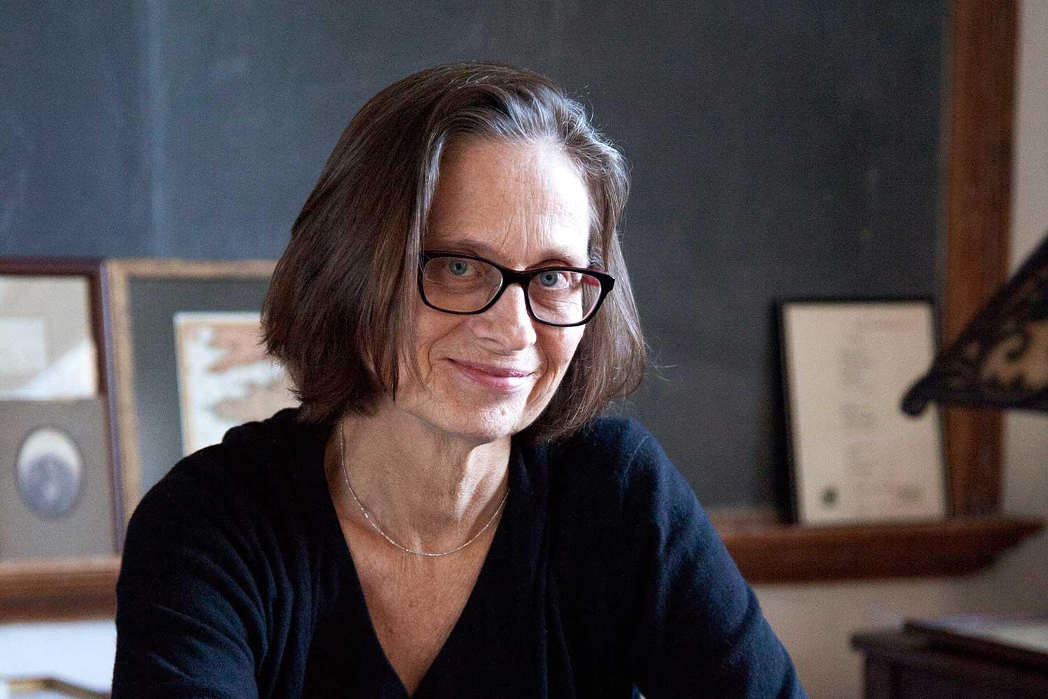 Lydia Davis is the Creative Writing Program's Kapnick Writer-in-Residence. (Photo by Theo Cote)