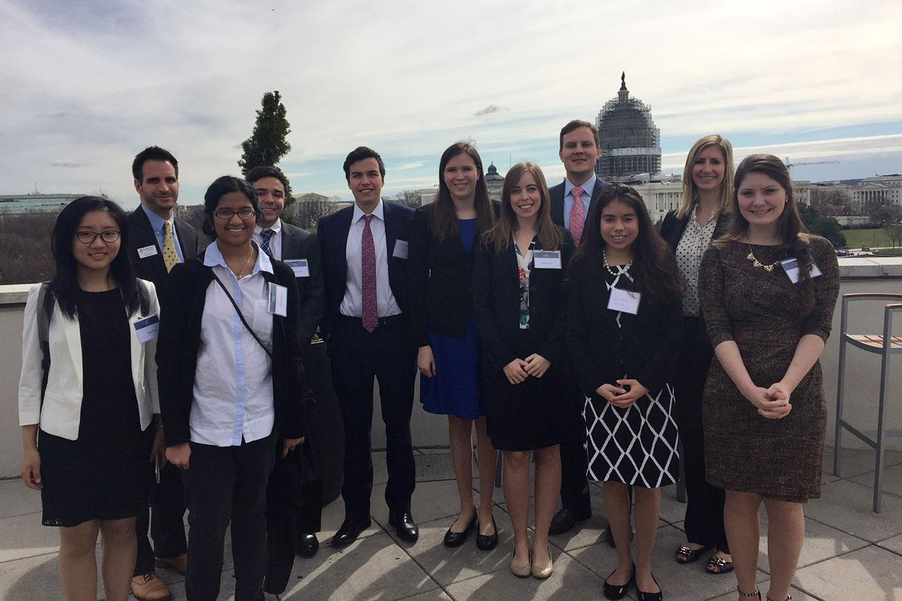As part of a spring break career trek, UVA students visited top employers in Washington and met with alumni and other staffers working in the U.S. Senate.