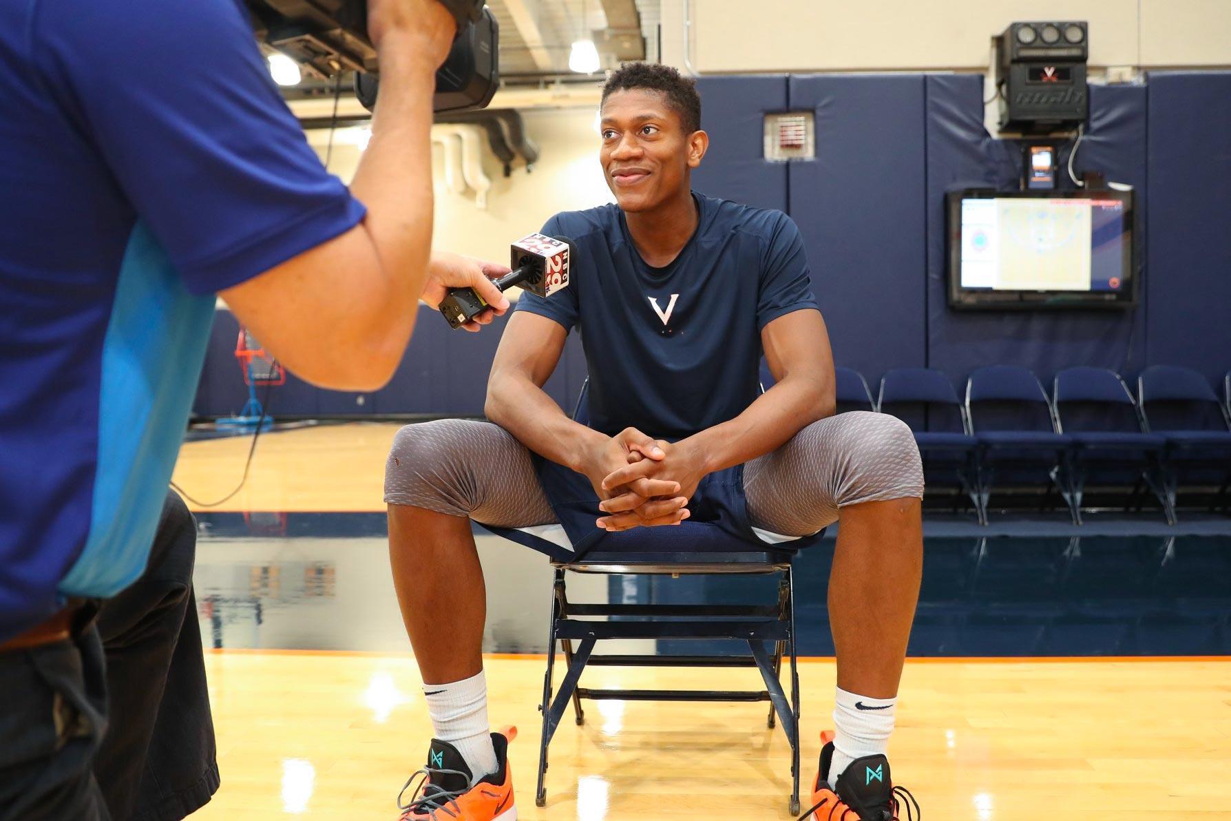"""Third-year forward De'Andre Hunter, a potential NBA draft pick, calls UVA his """"dream school."""""""