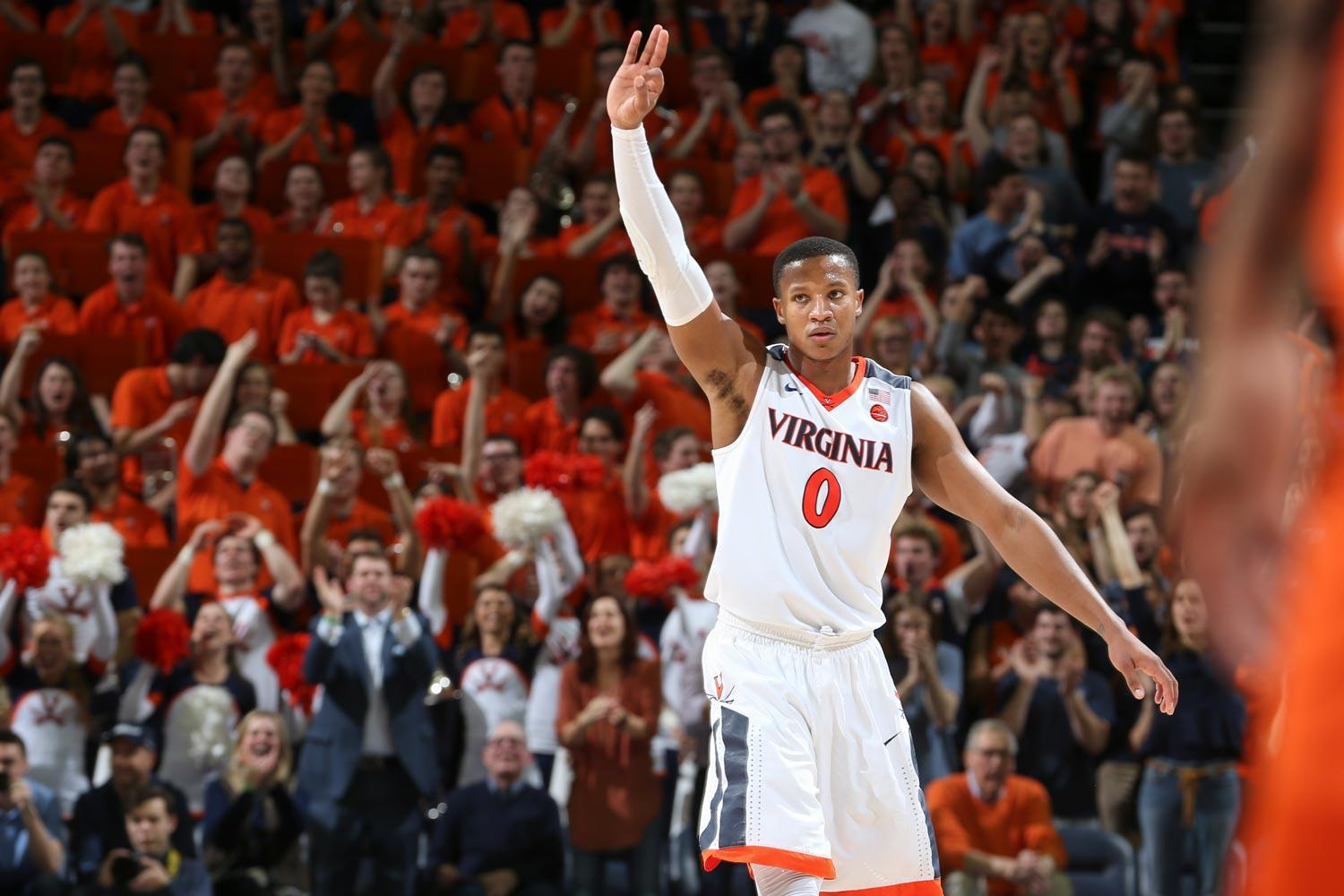 Devon Hall participated in the Portsmouth Invitational Tournament and the NBA combine, and will have worked out for nearly two-thirds of the NBA's 30 teams by draft day.