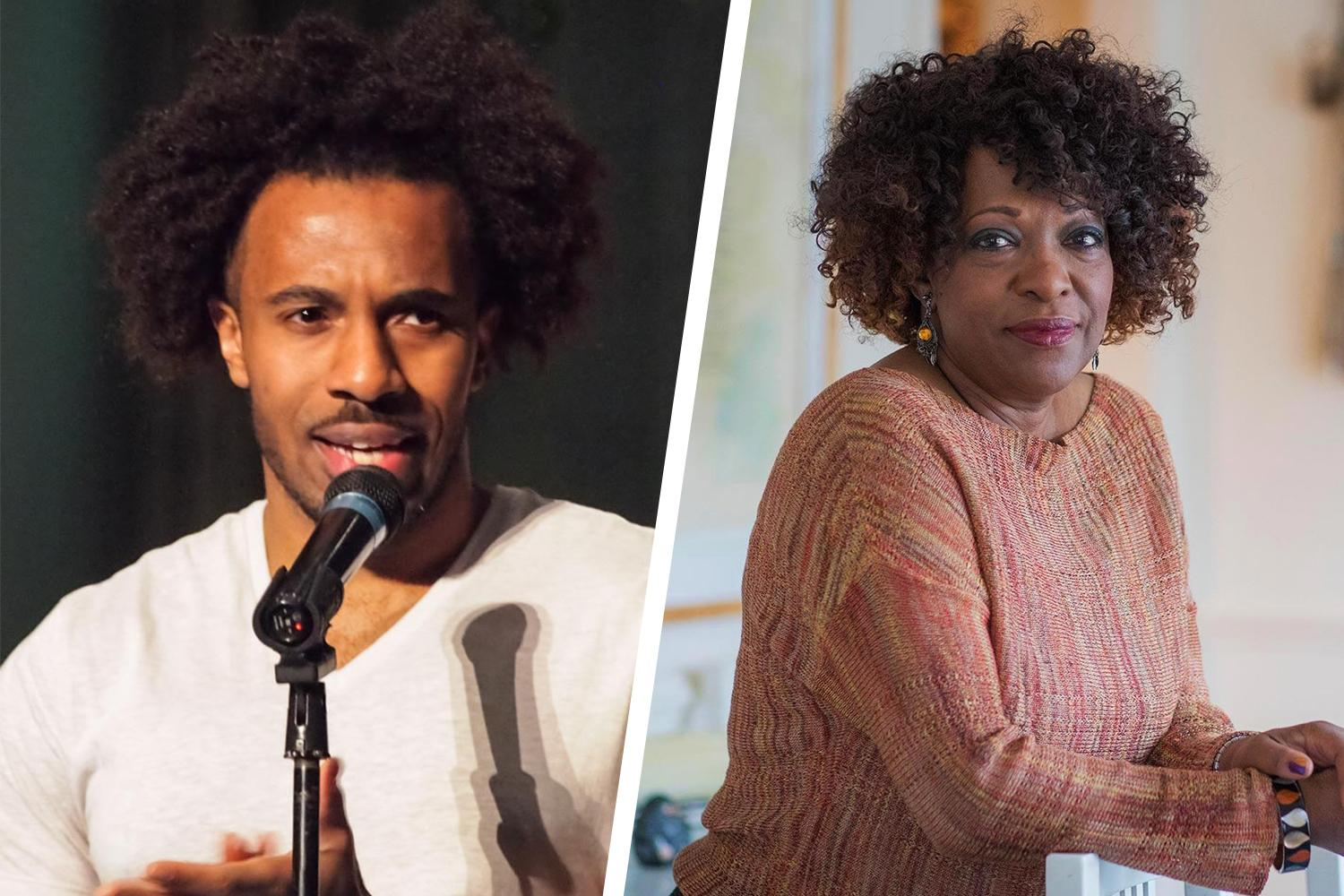 UVA faculty, including poetry professor Rita Dove (right) modeled an ambitious intellectual life for this former student, Kyle Dargan. (Photos courtesy of Kyle Dargan and Sanjay Suchak)