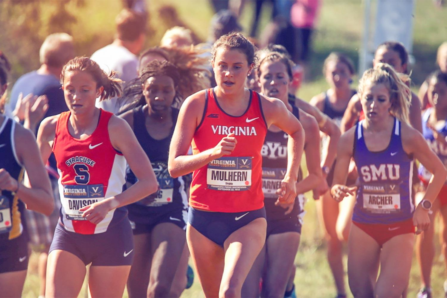 Emily Mulhern hopes to recapture her first-year form after undergoing surgery for a stress fracture in the spring. (UVA Athletics photo)