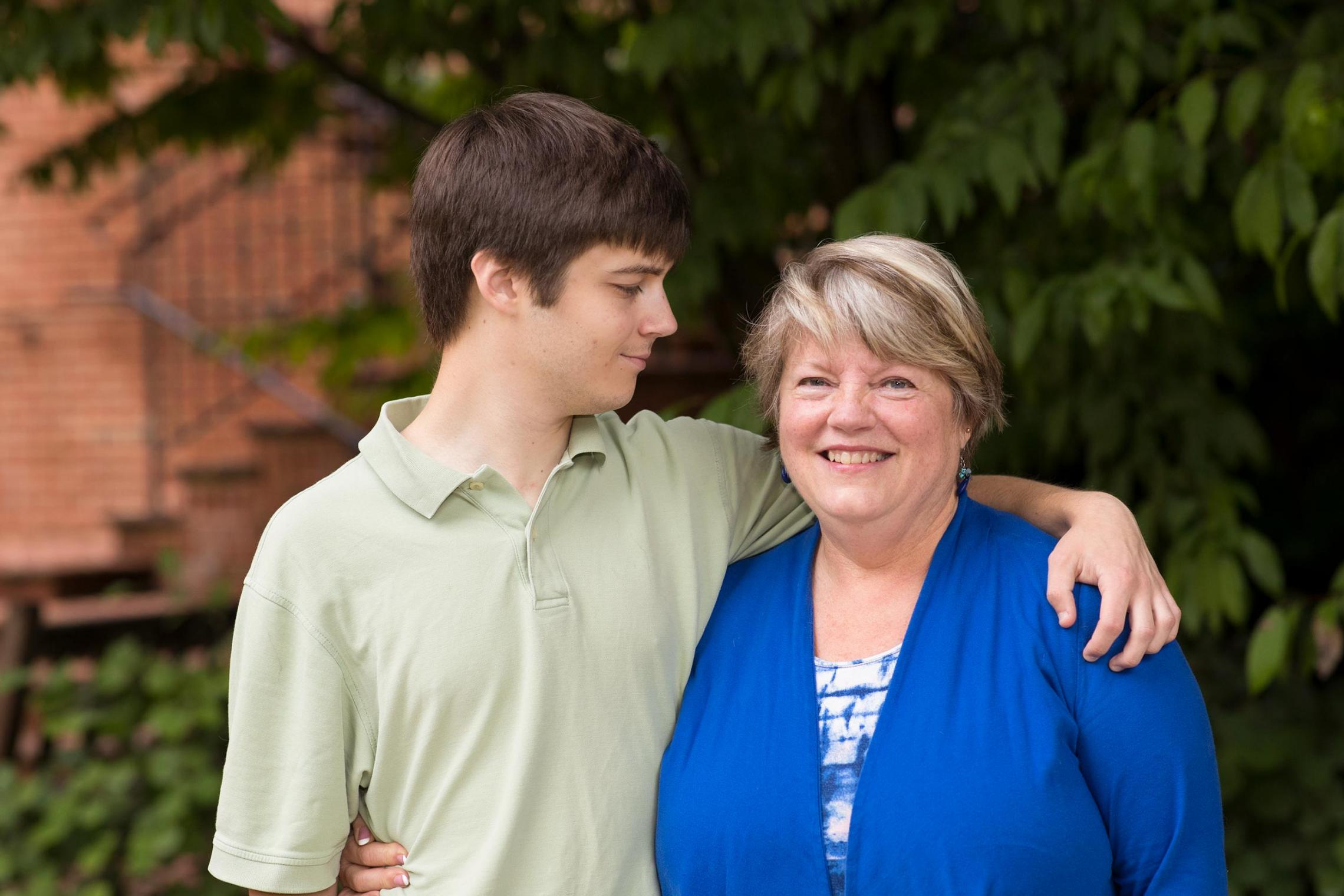 Fay Painter's son Adam, 22, was diagnosed with autism at age 3. Now, as a family resource navigator, Painter provides support and guidance to local families with a new diagnosis.