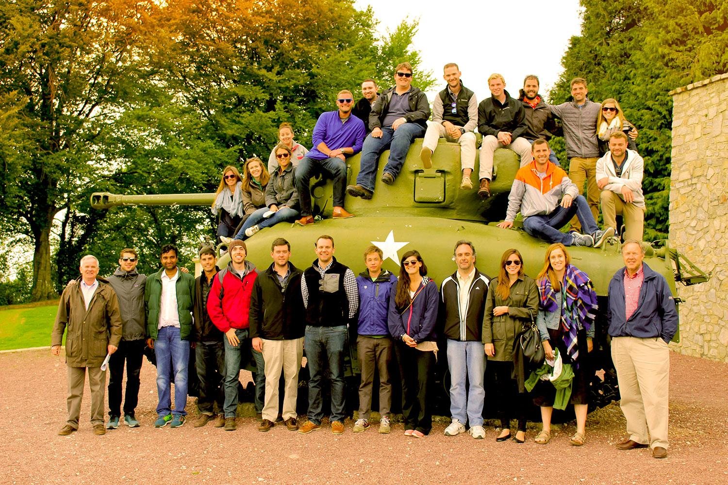 Darden students and faculty members traveled to Normandy's beaches to study the D-Day invasion. (Photos courtesy of Jocelyn Recht)