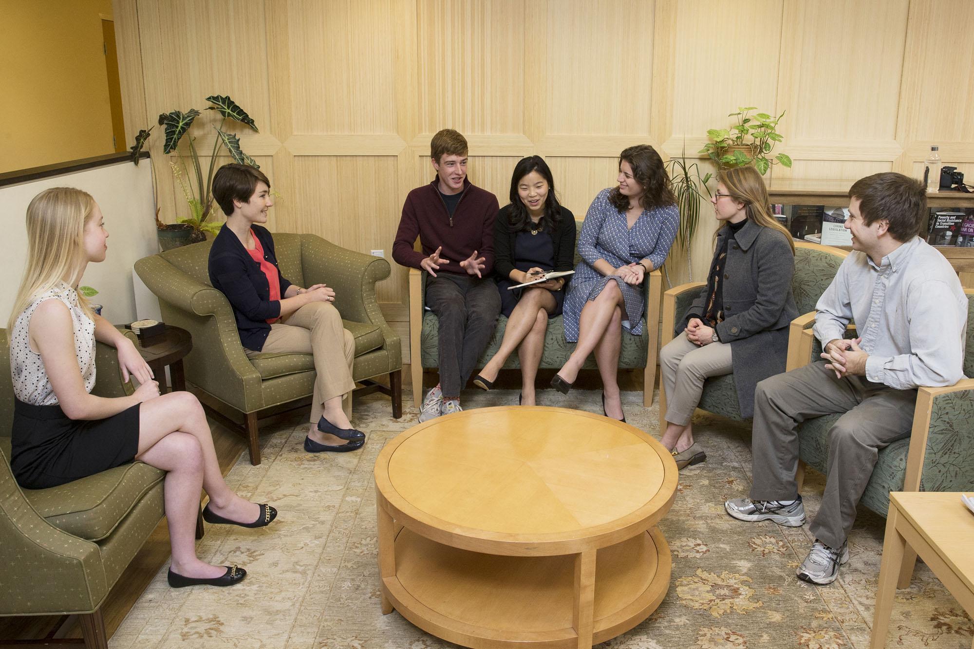 FCG team leaders from left to right: Lauren Kinneberg, Catherine Quinn, Tyler Williams, Michelle Cho, Jacquelyn Katuin, Madeline Merrill and Corydon Baylor.