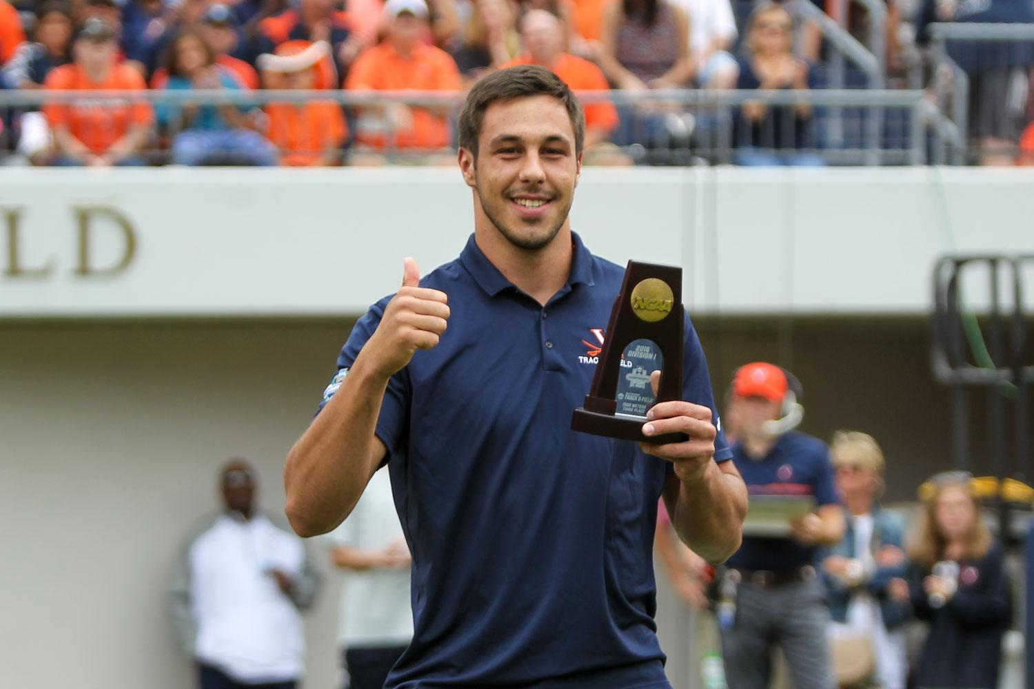 Filip Mihaljevic might just be the greatest male athlete in UVA history. As a weight thrower on the track team, he earned three NCAA and 10 ACC championships.