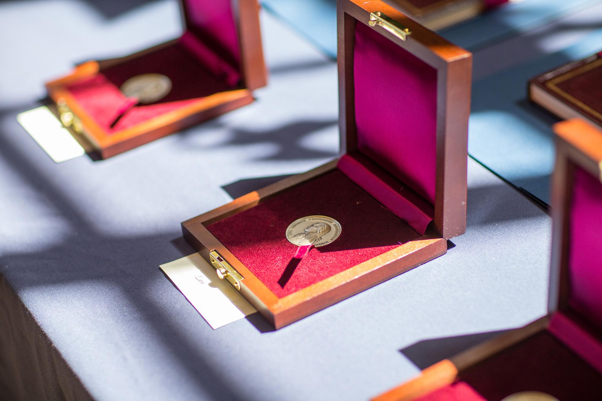 The University and the Thomas Jefferson Foundation at Monticello will present the Thomas Jefferson Foundation Medals during Thursday's Founder's Day celebrations.