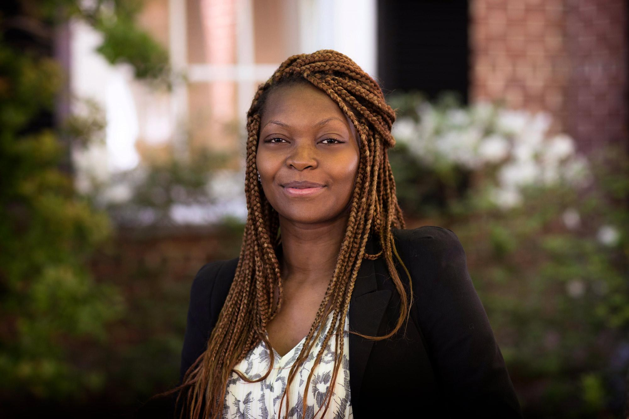 Recent graduate Gaelle Mawadjou Tchokoua said her experience at the Darden School of Business helped her learn to speak up and step out of her comfort zone.
