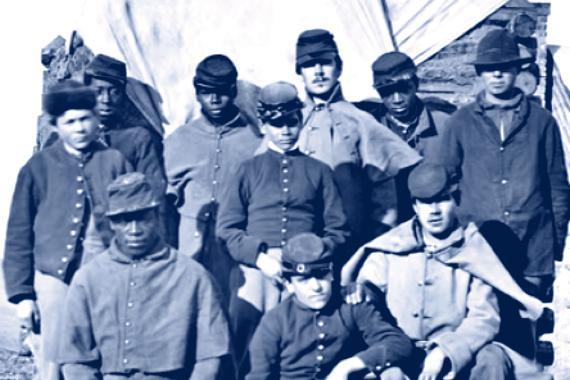 Civil War scene