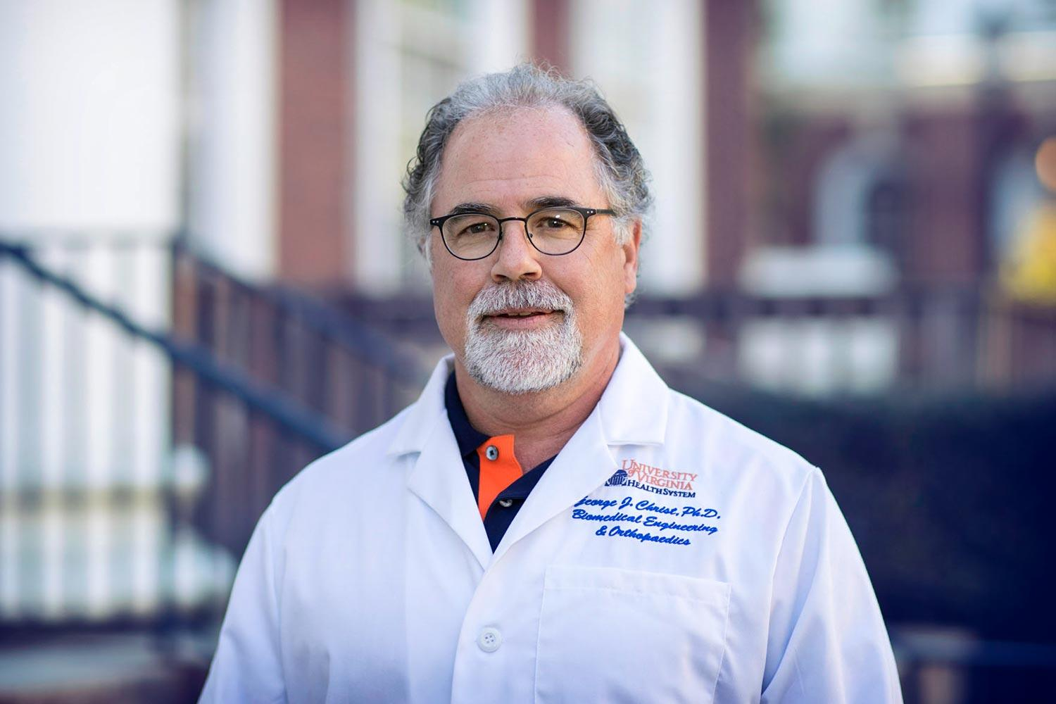 Biomedical engineer George Christ co-directs UVA's Center for Advanced Biomanufacturing, which is hosting the gathering.
