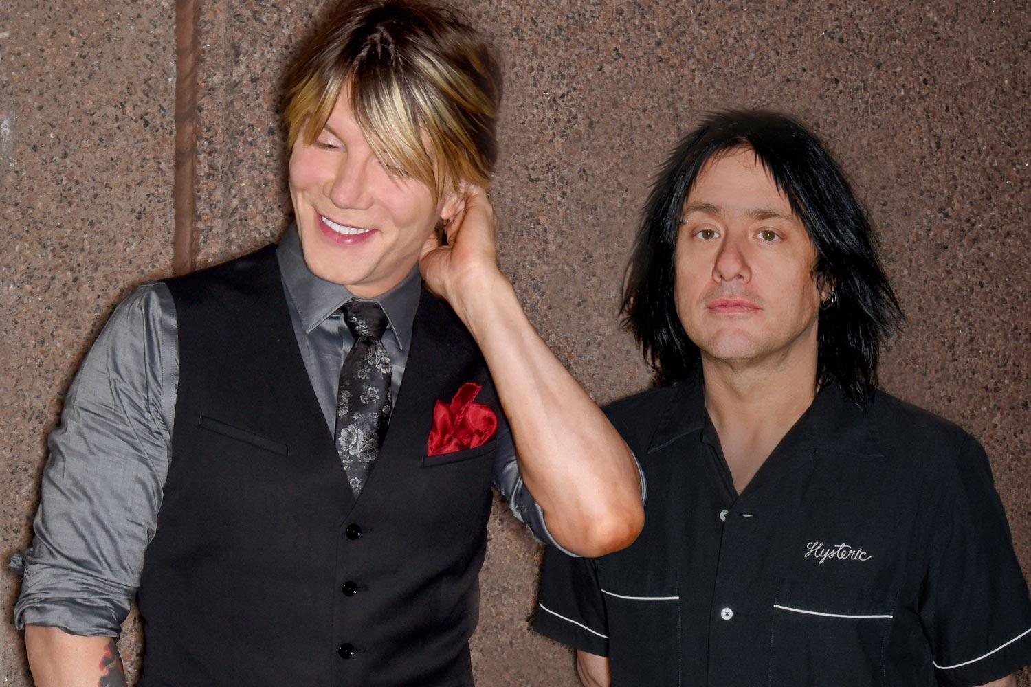 Guitarist and vocalist John Rzeznik, left, and bassist Robby Takac of The Goo Goo Dolls will perform after UVA's Bicentennial Launch Celebration on Friday. (Photo courtesy of the Goo Goo Dolls)