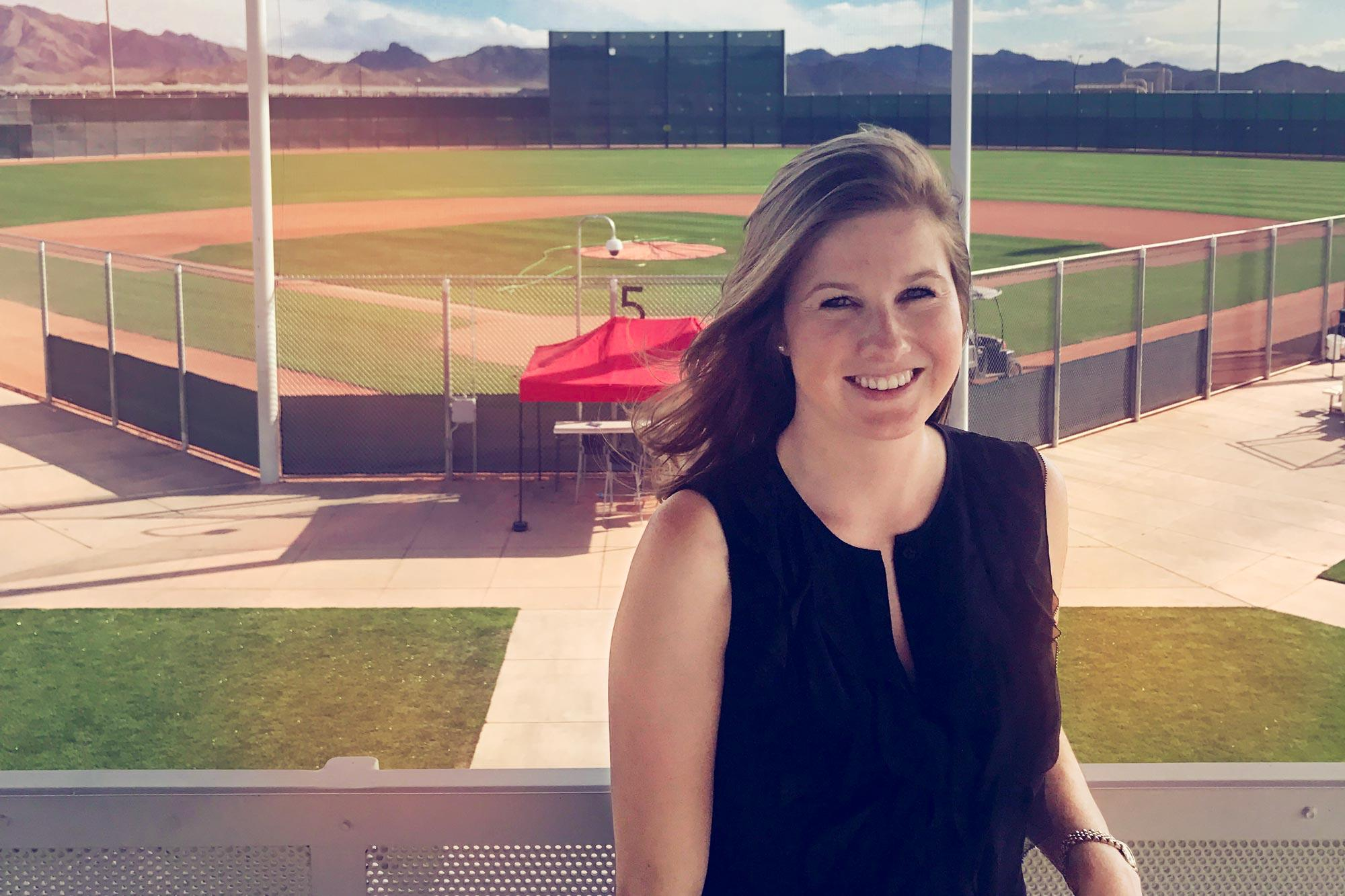 Alumna Haley Alvarez is on her way to achieving her goal of becoming the first female general manager of a Major League Baseball team. (Photo courtesy of Haley Alvarez)