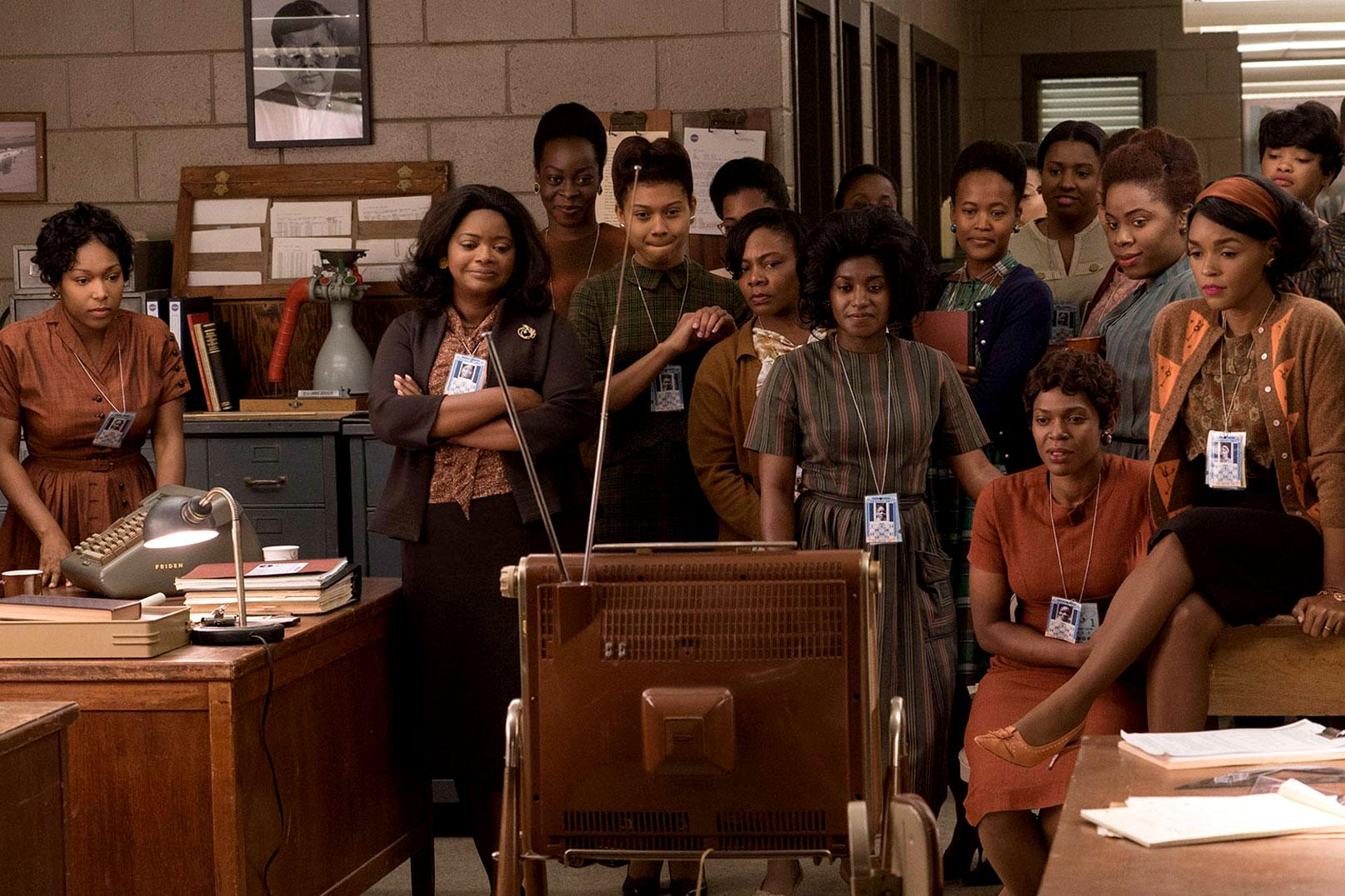"""A still shot from the upcoming movie """"Hidden Figures,"""" which is based on Shetterly's book and features a star-studded cast."""