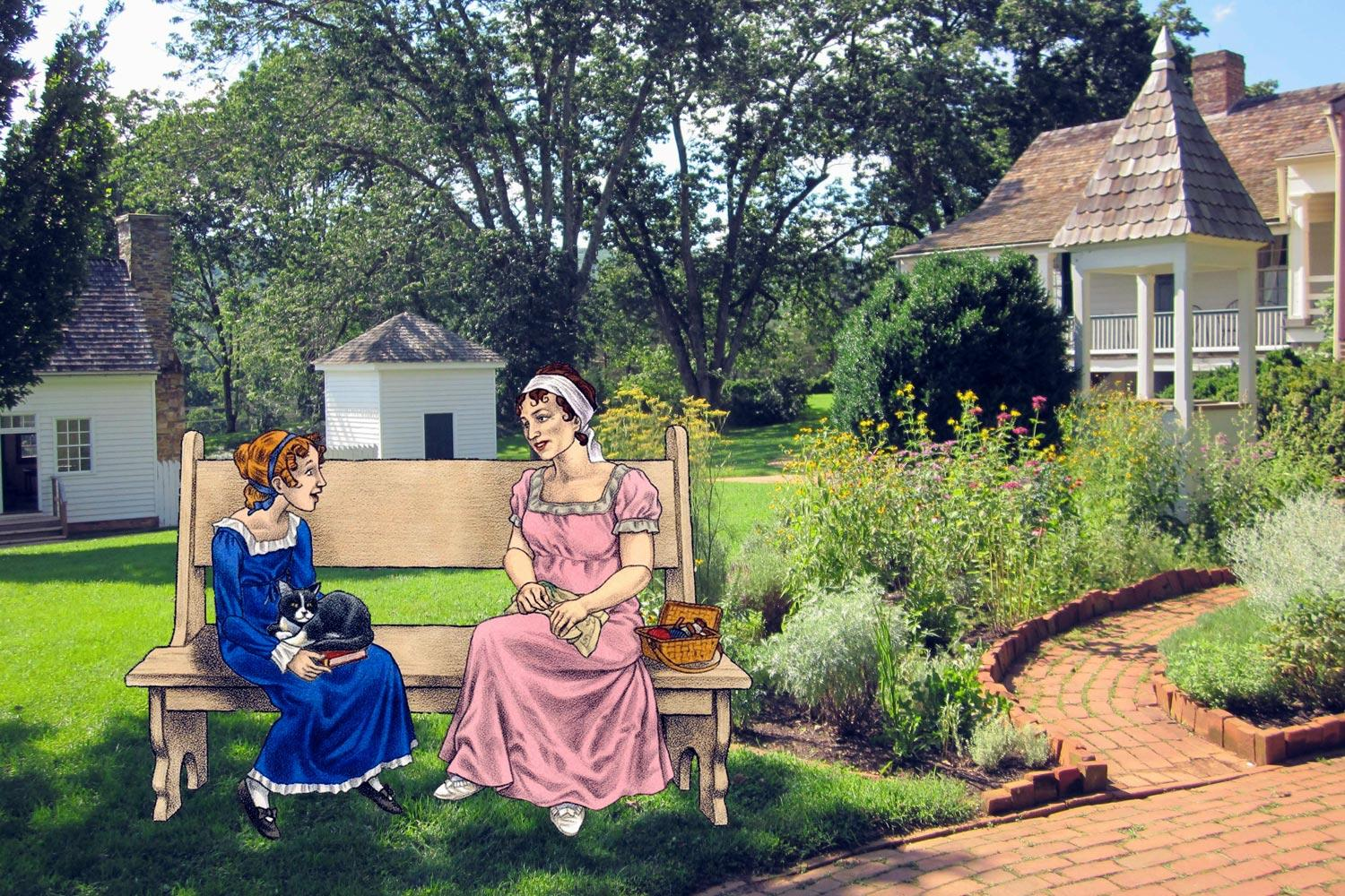 The new tours feature illustrations of James Monroe, his wife and granddaughter and the enslaved families that lived and worked at Highland.